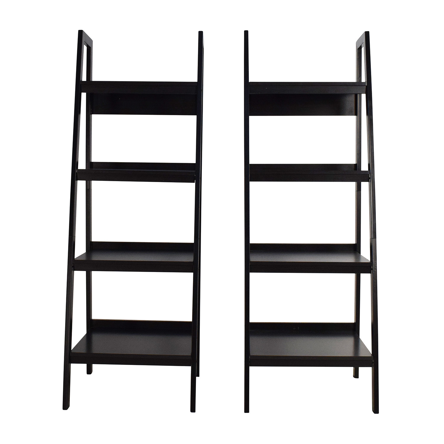 Avenue Greene Avenue Greene Lawrence Black Ladder Frame Bookcase Pair Storage