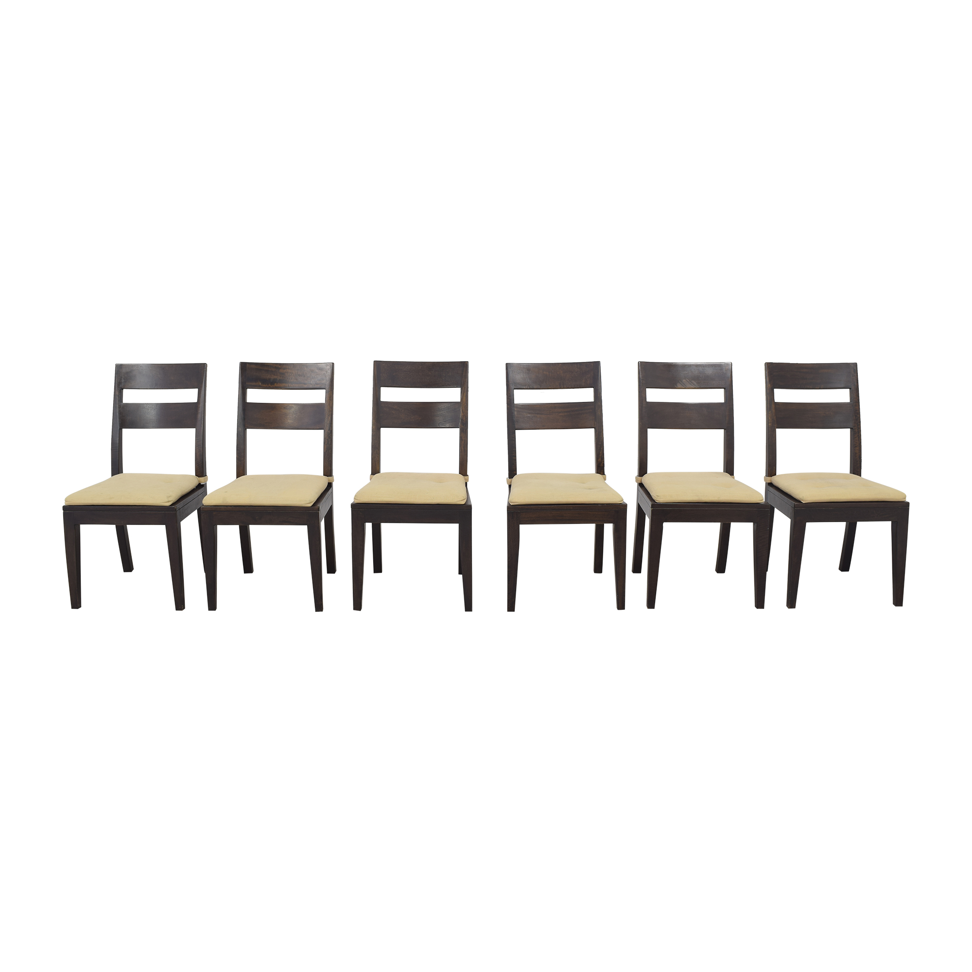 Crate & Barrel Crate & Barrel Basque Dining Chairs with Cushions nyc