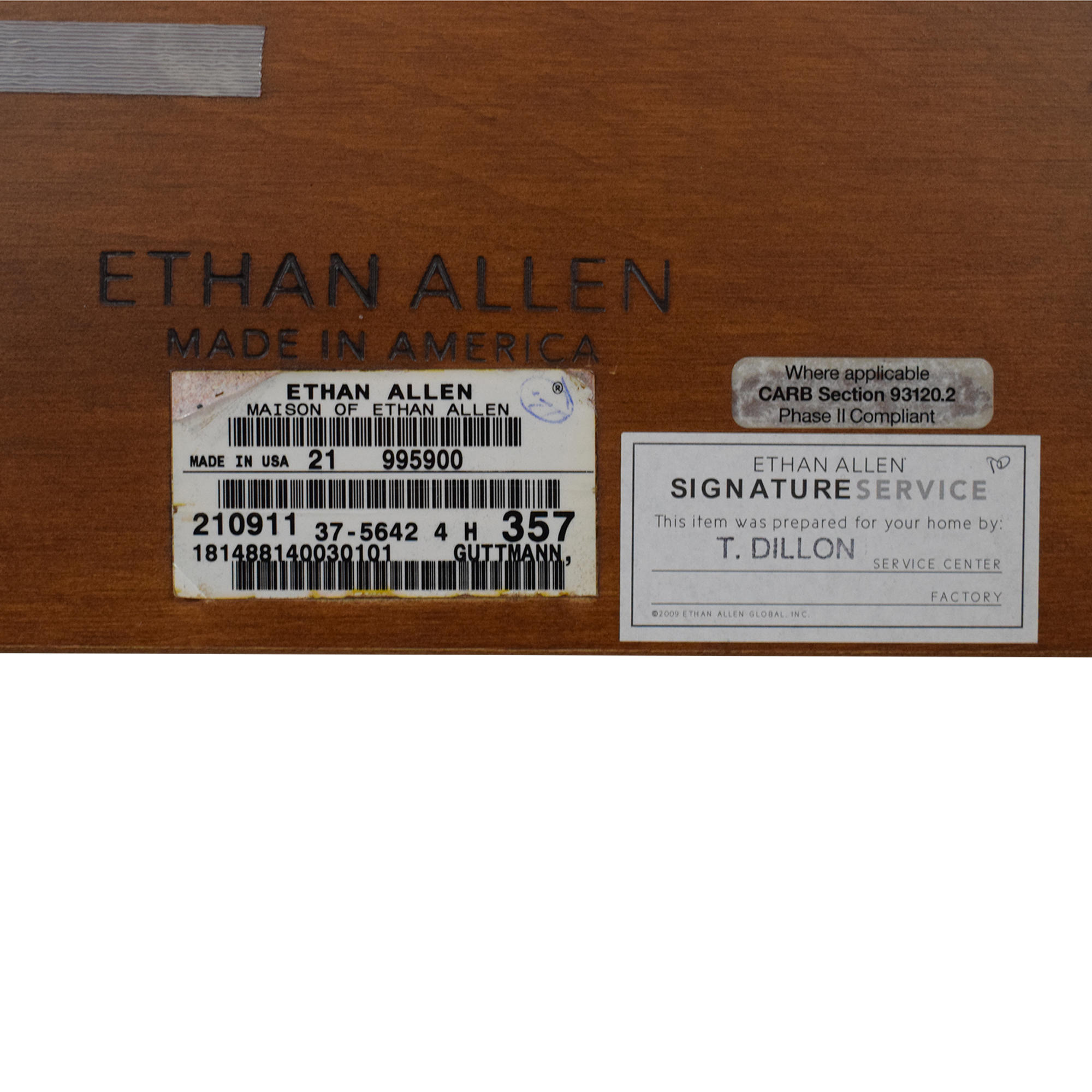 Ethan Allen Maison Collection Full Sleigh Bed sale