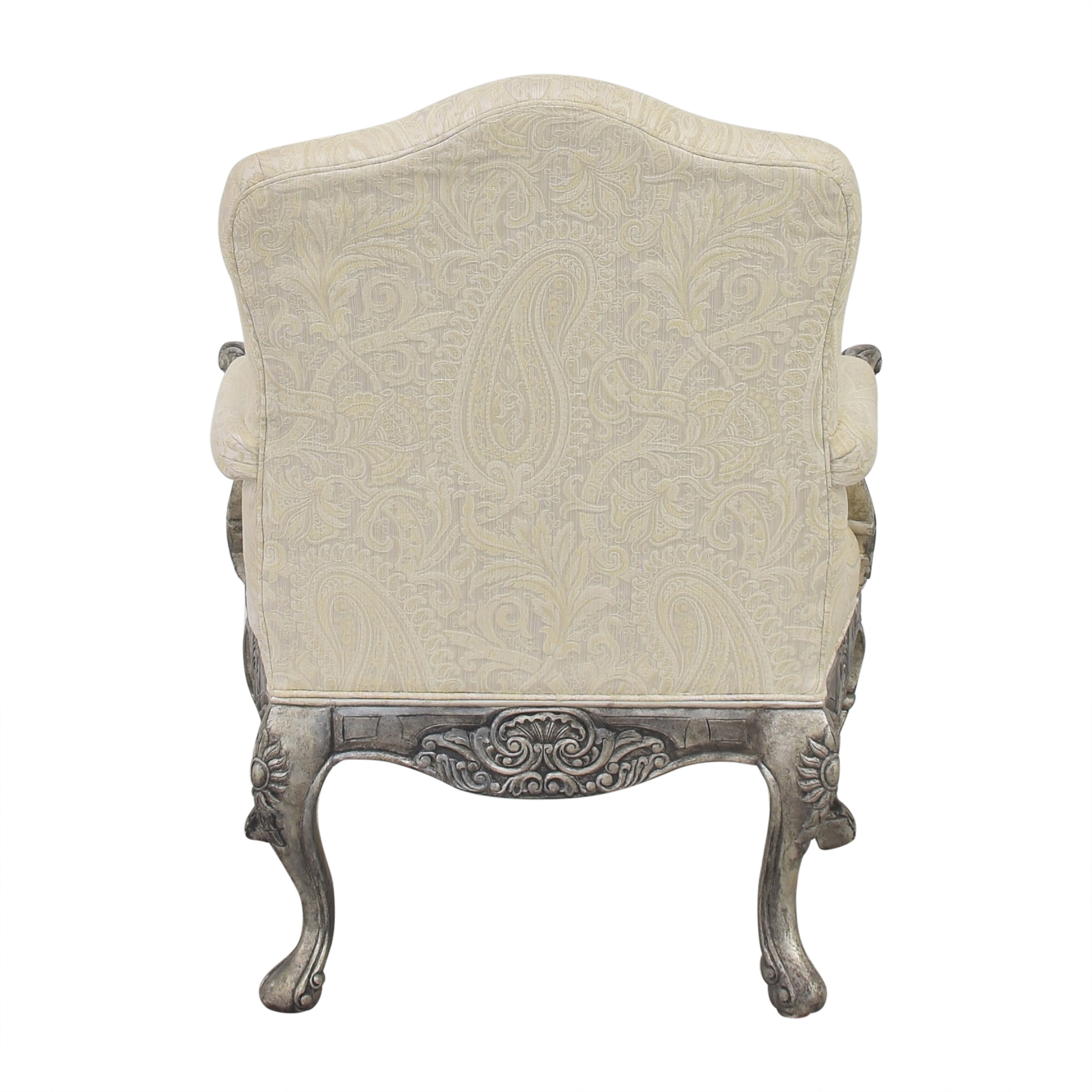 Lillian August Lillian August Arm Chair white and silver