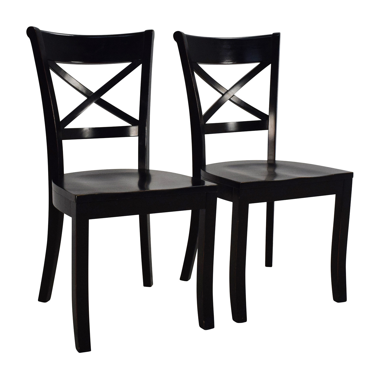 ... Crate And Barrel Crate U0026 Barrel Vintner Wooden Chair Pair Chairs ...