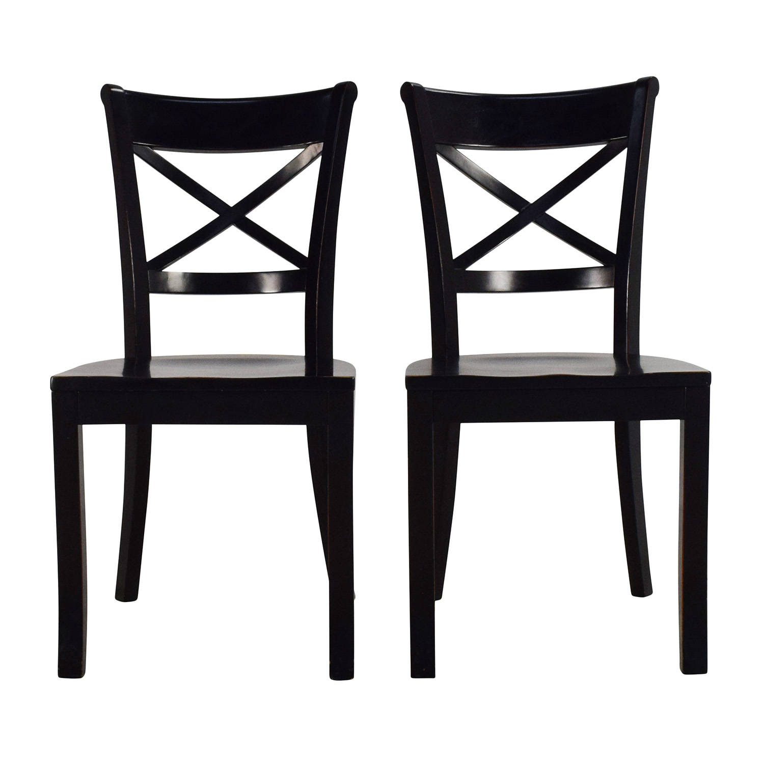 buy Crate & Barrel Vintner Wooden Chair Pair Crate and Barrel