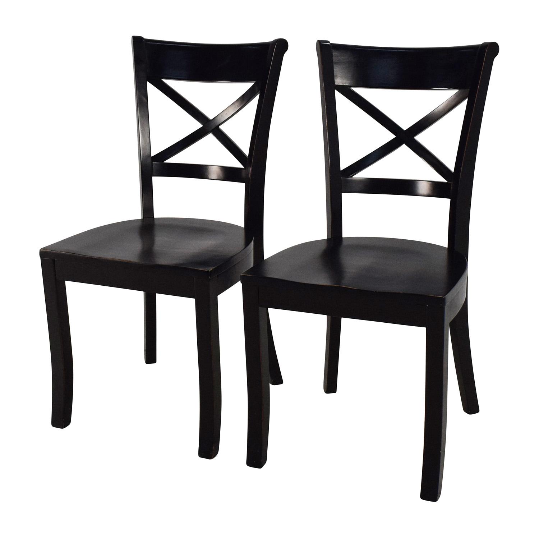... Shop Crate And Barrel Crate U0026 Barrel Vintner Wooden Chair Pair Online  ...