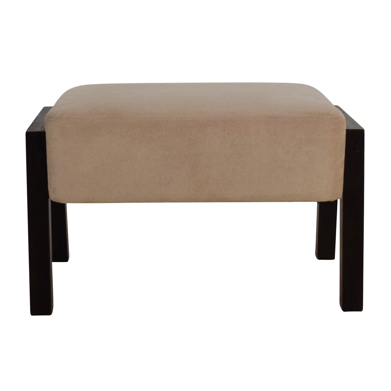 Microsuede Beige Ottoman price