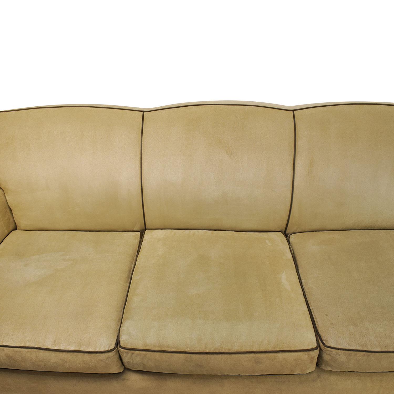 ... Buy Mitchell Gold + Bob Williams Beige Microsuede Sofa Mitchell Gold +  Bob Williams Classic Sofas