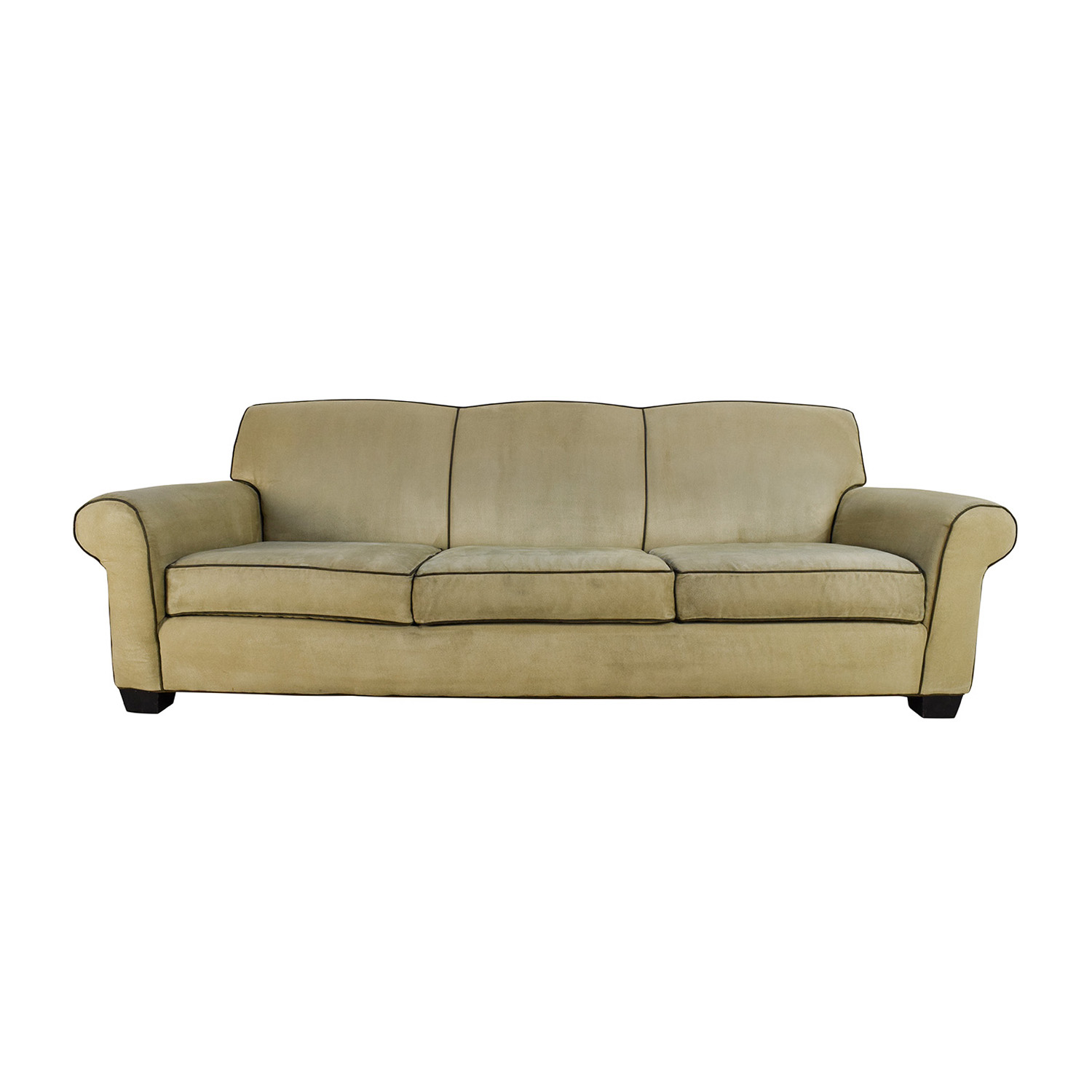 shop Mitchell Gold + Bob Williams Beige Microsuede Sofa Mitchell Gold + Bob Williams