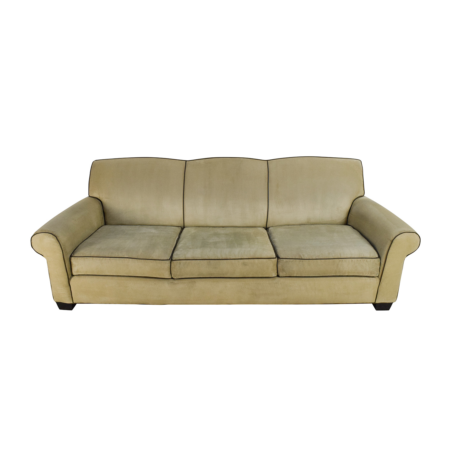 buy Mitchell Gold + Bob Williams Beige Microsuede Sofa Mitchell Gold + Bob Williams Sofas