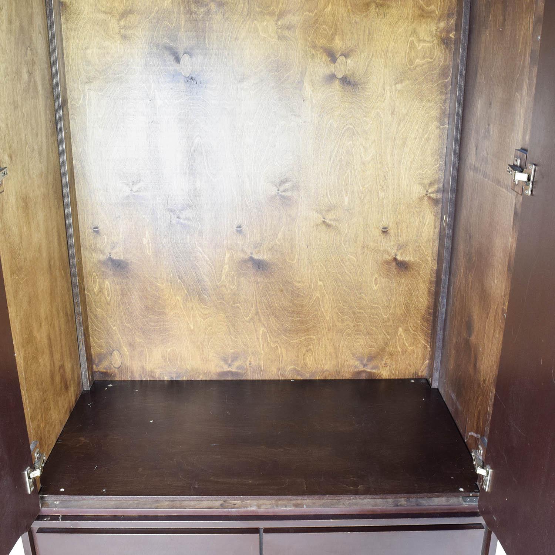 ... Gothic Cabinet Craft Gothic Cabinet Craft Large Dark Wood Armoire Dark  Brown