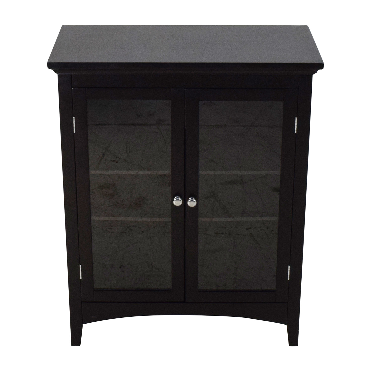 Dark Brown Glass Door Cabinet dimensions