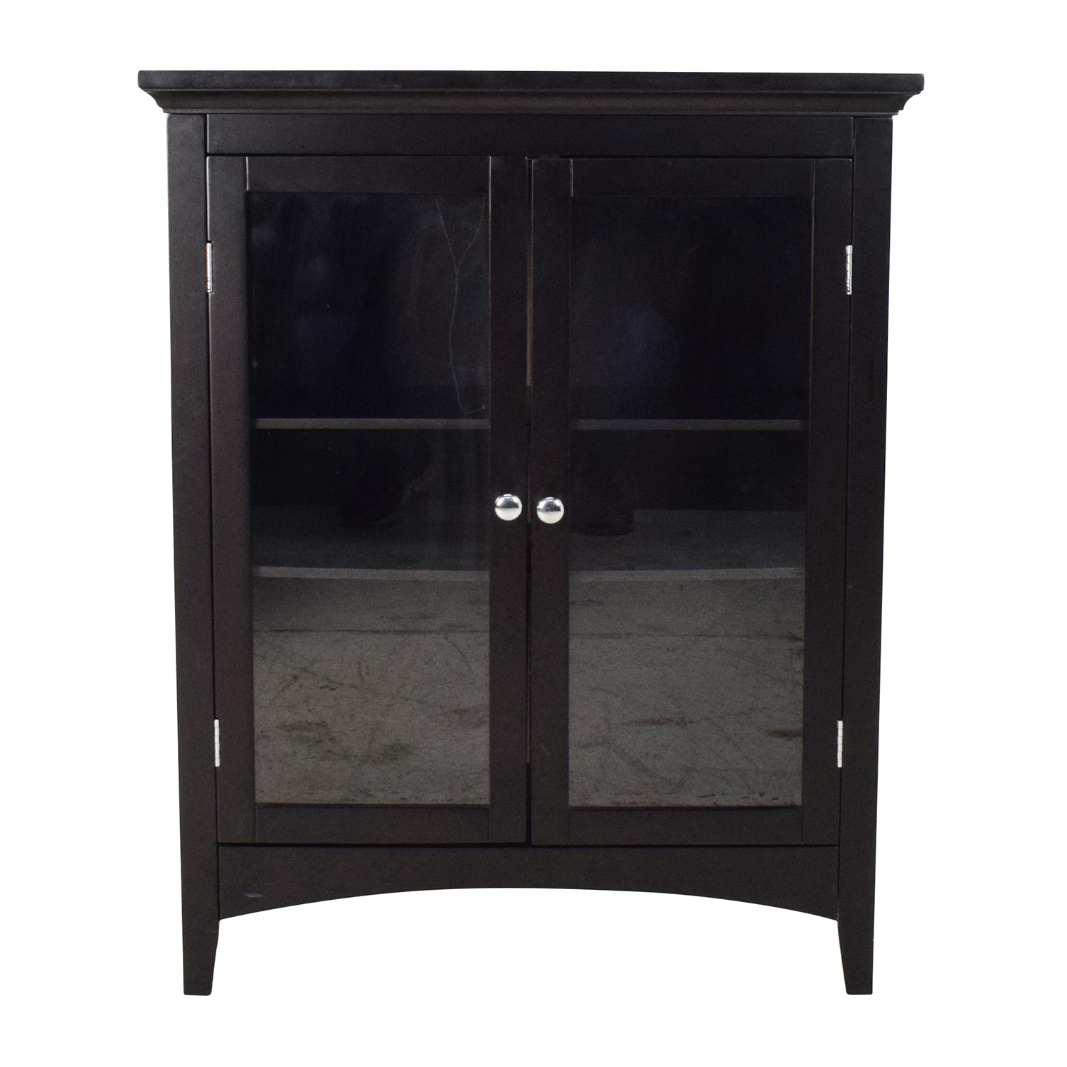 buy Dark Brown Glass Door Cabinet Cabinets & Sideboards