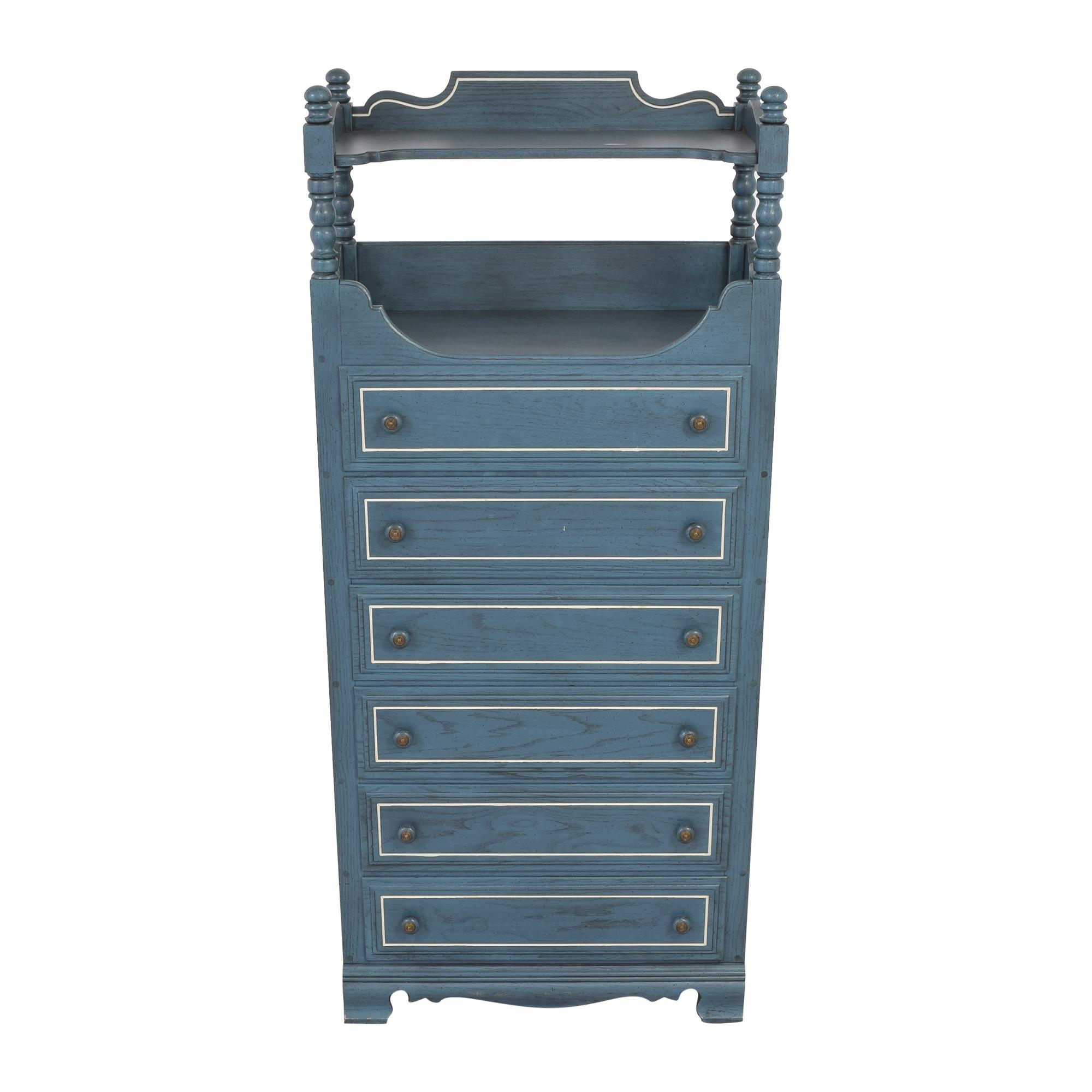 buy Ethan Allen Six Drawer Dresser with Shelf Ethan Allen