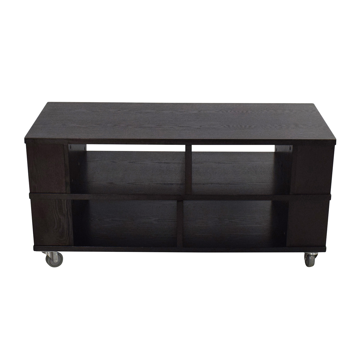 shop Crate & Barrel Elements Media Cart Console Crate and Barrel Media Units