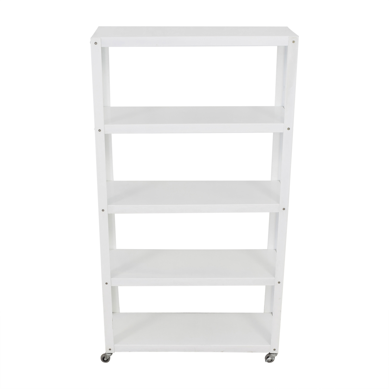CB2 CB2 Rolling Shelf Unit dimensions