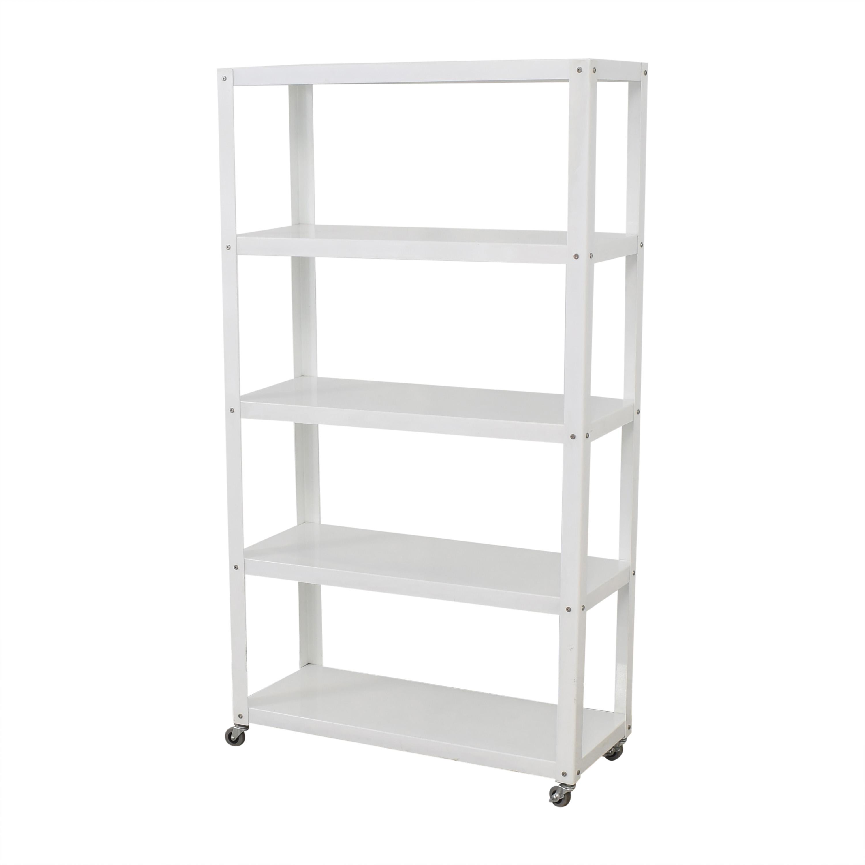 shop CB2 Rolling Shelf Unit CB2 Bookcases & Shelving
