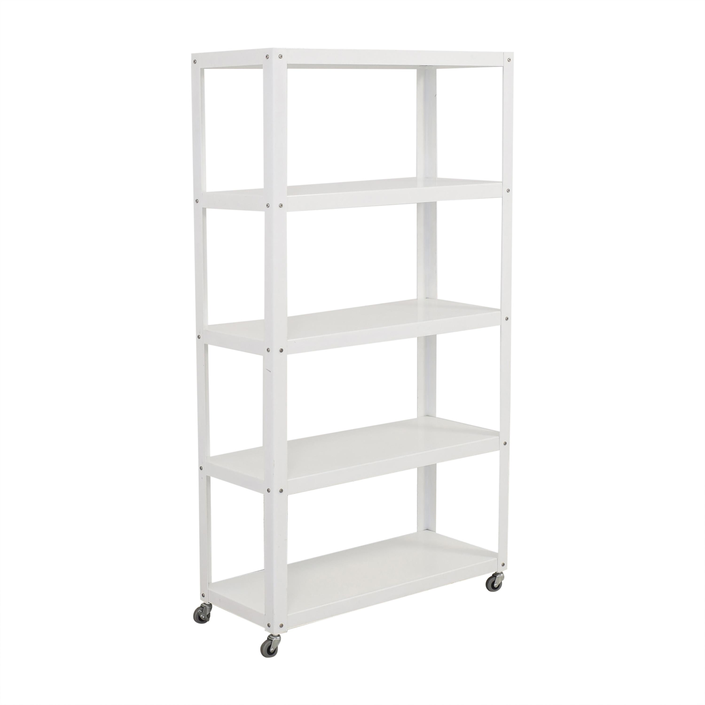 buy CB2 Rolling Shelf Unit CB2