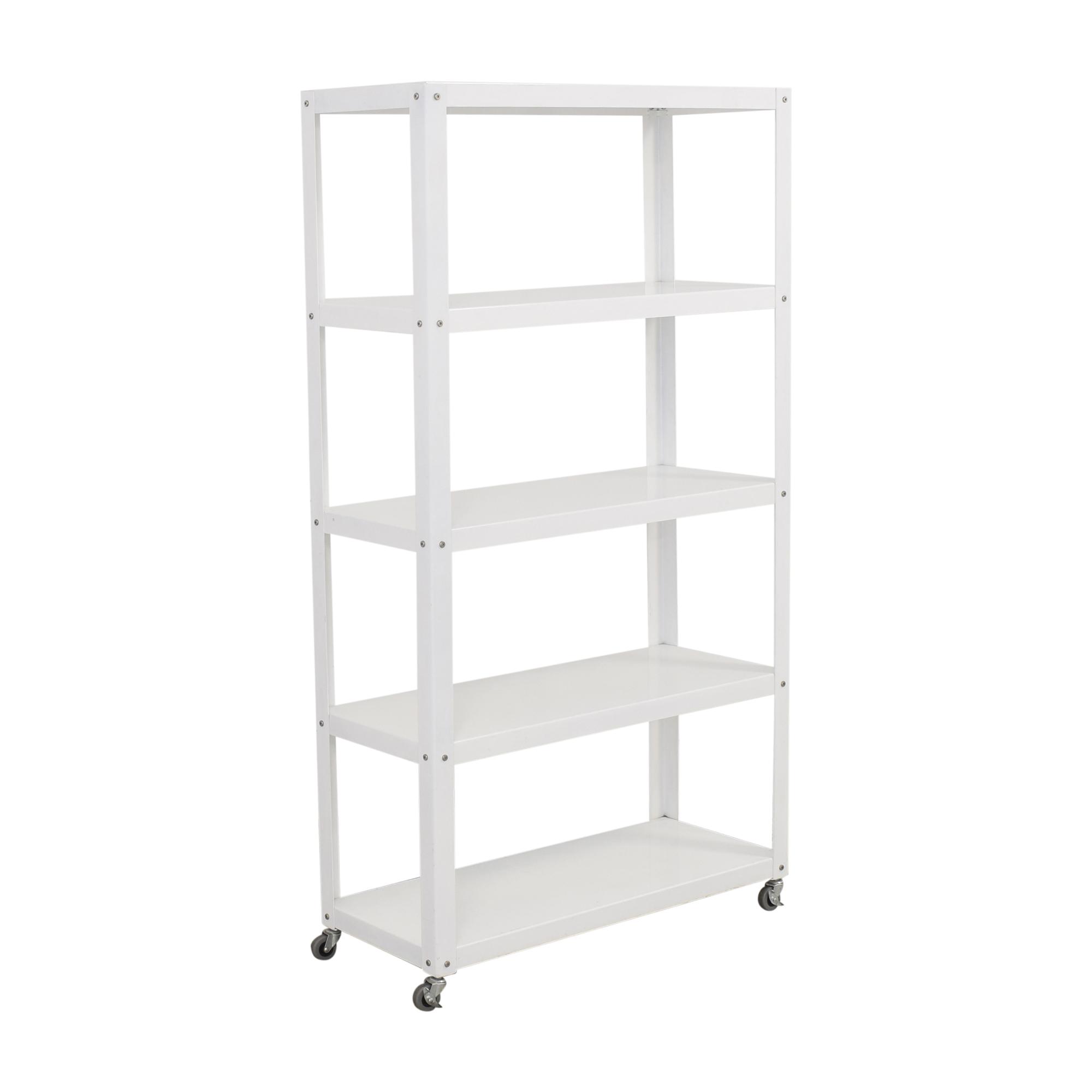 buy CB2 Rolling Shelf Unit CB2 Storage