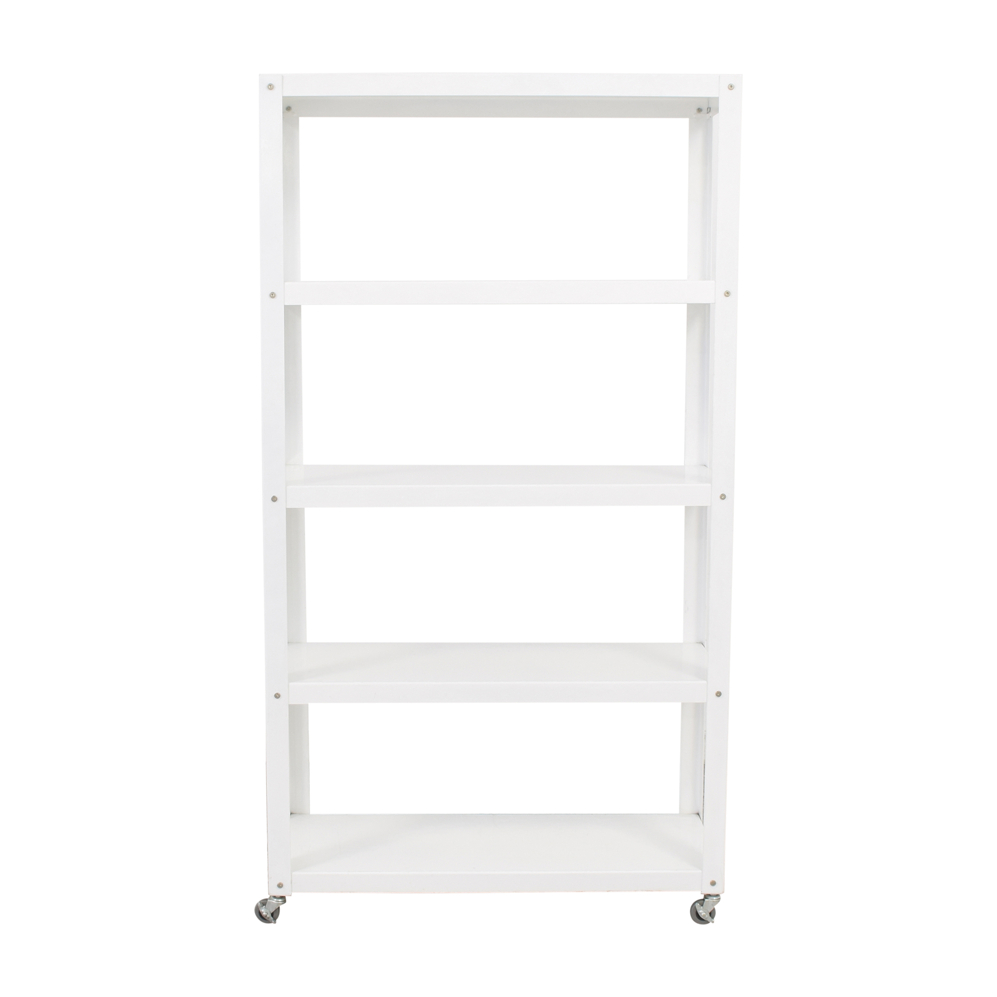 CB2 CB2 Rolling Shelf Unit white