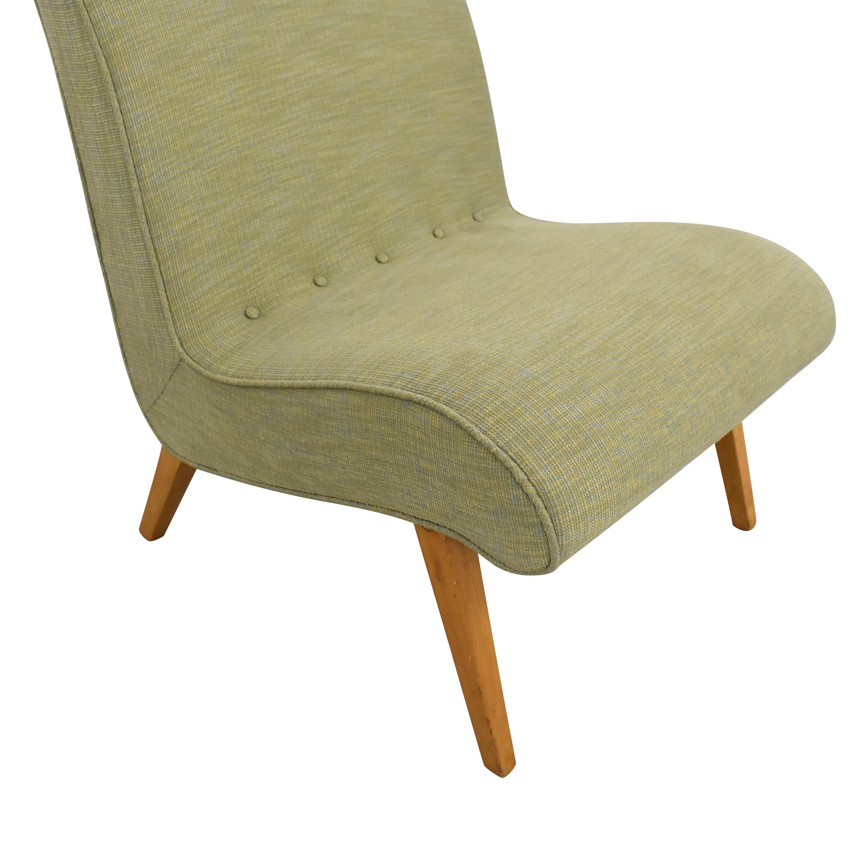 buy Custom Mid Century Style Slipper Chair  Chairs