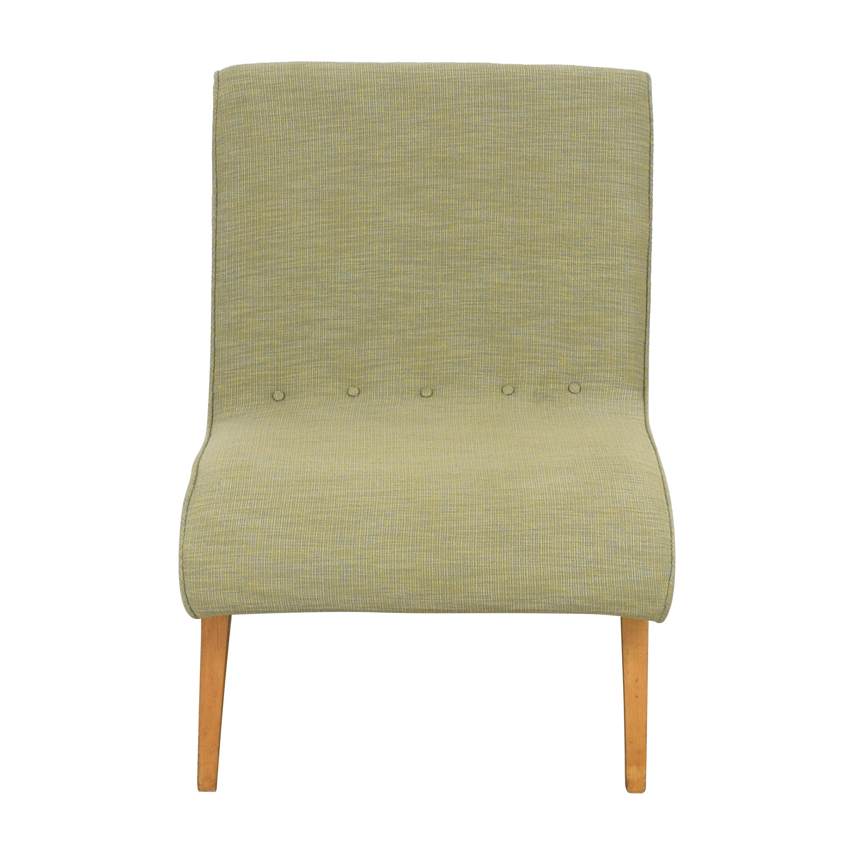 Custom Mid Century Style Slipper Chair nj