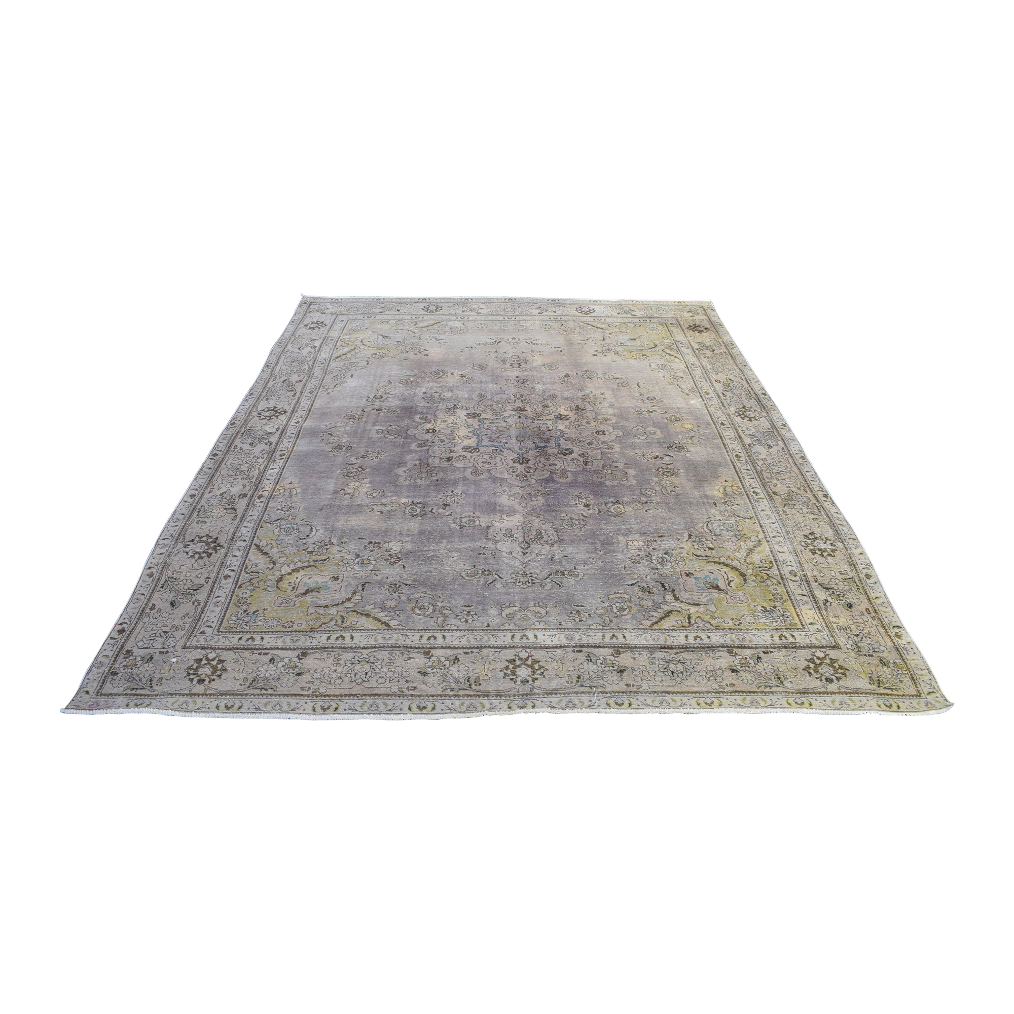 buy Malik Vintage Hand-Knotted Overdyed Distressed Rug Malik
