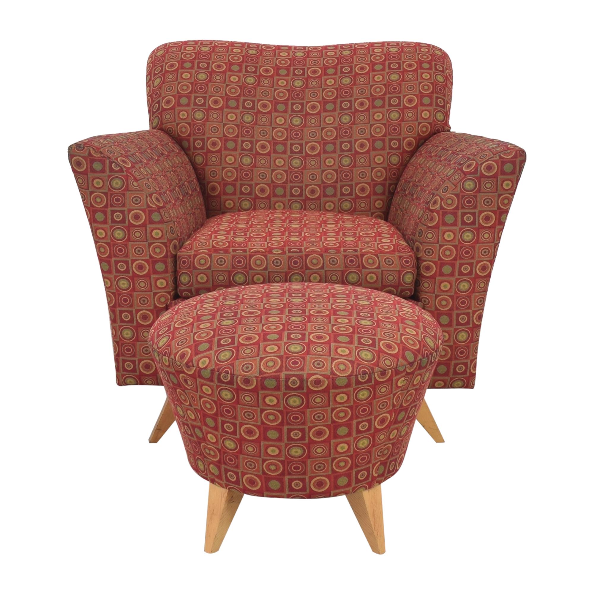 Dakota Jackson Club Chair and Ottoman / Chairs