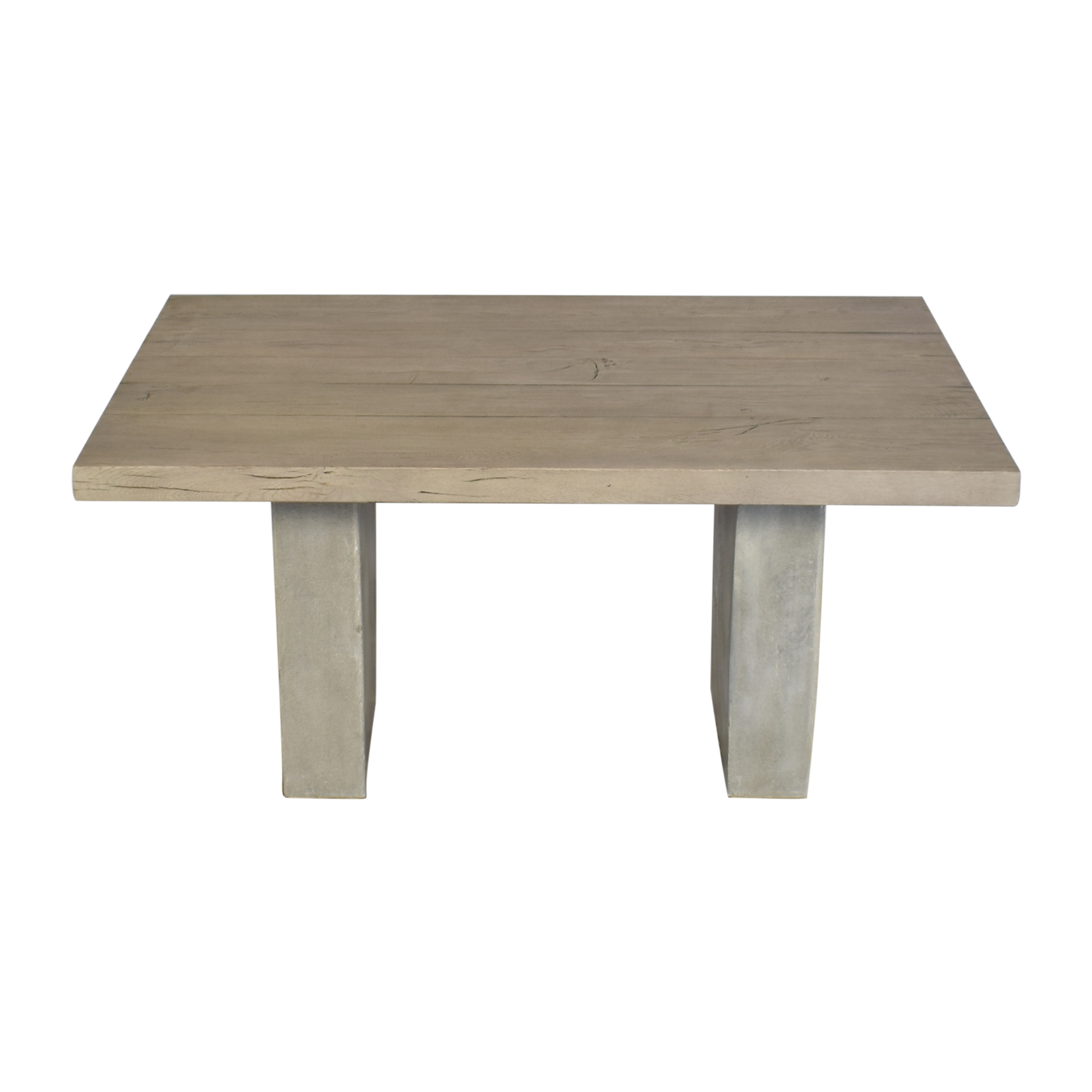 Restoration Hardware Restoration Hardware Concrete Pier Rectangular Dining Table for sale