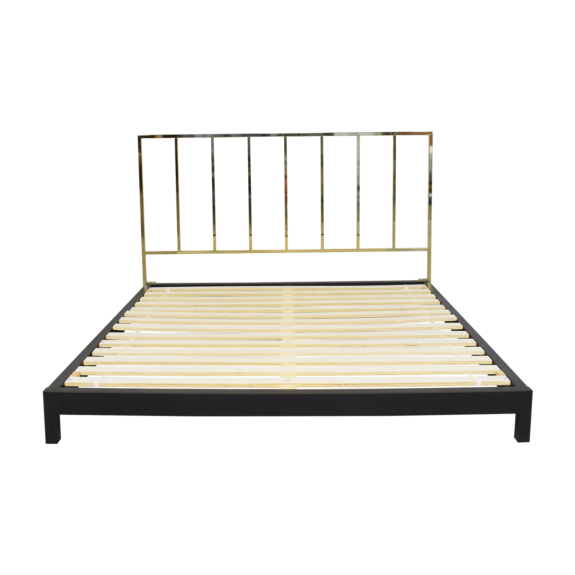 CB2 Alchemy Tall Headboard King Bed sale