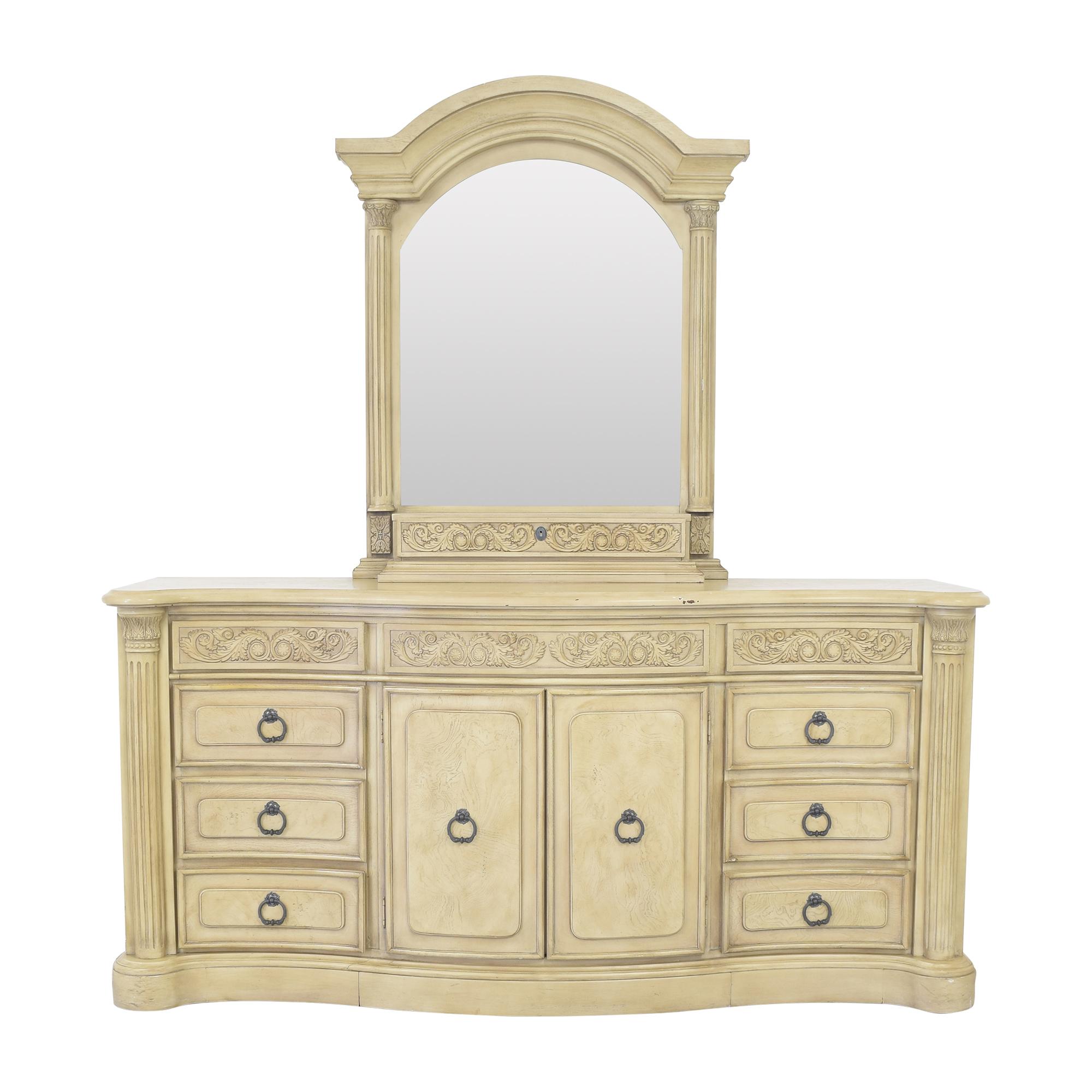 buy Collezione Europa Decorative Dresser and Mirror Collezione Europa Dressers