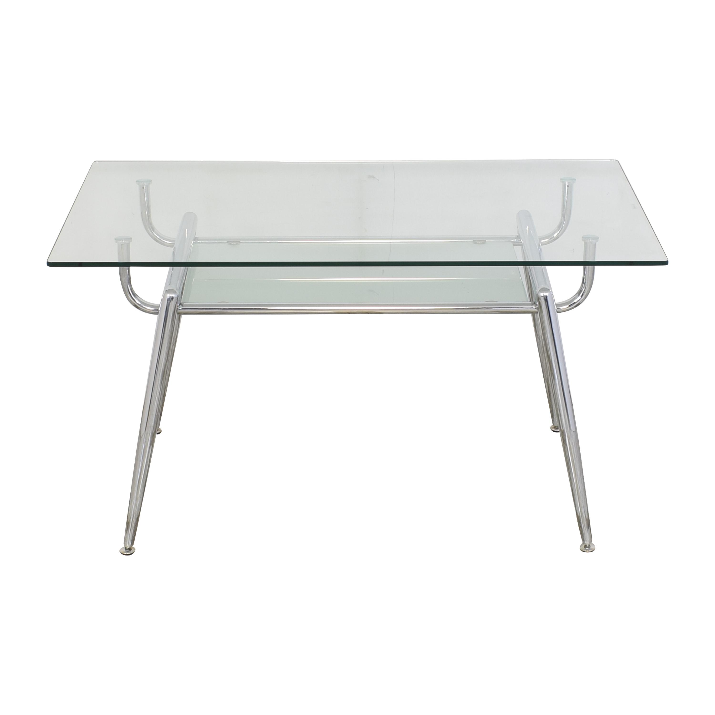 Glass and Chrome Desk nyc