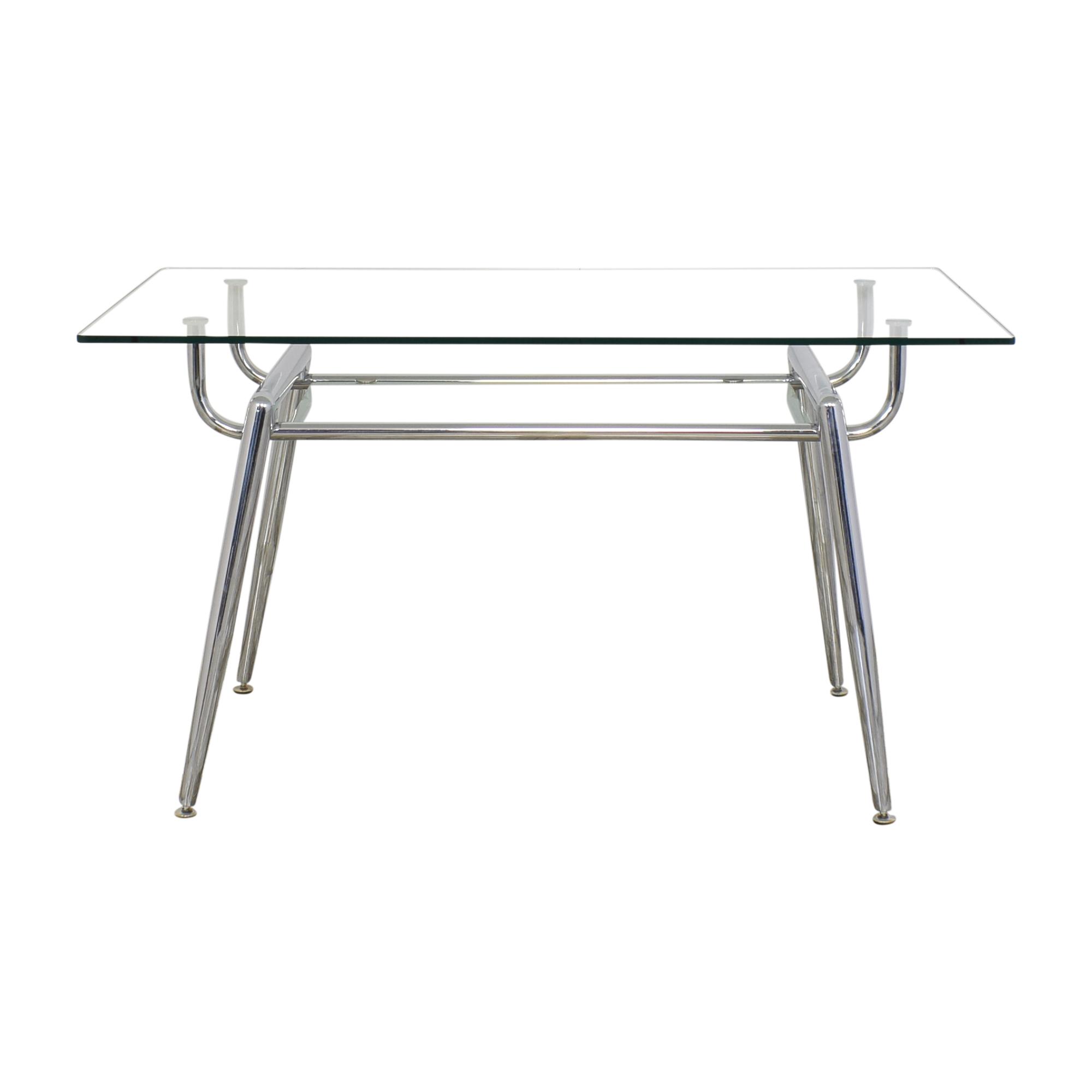 Glass and Chrome Desk discount