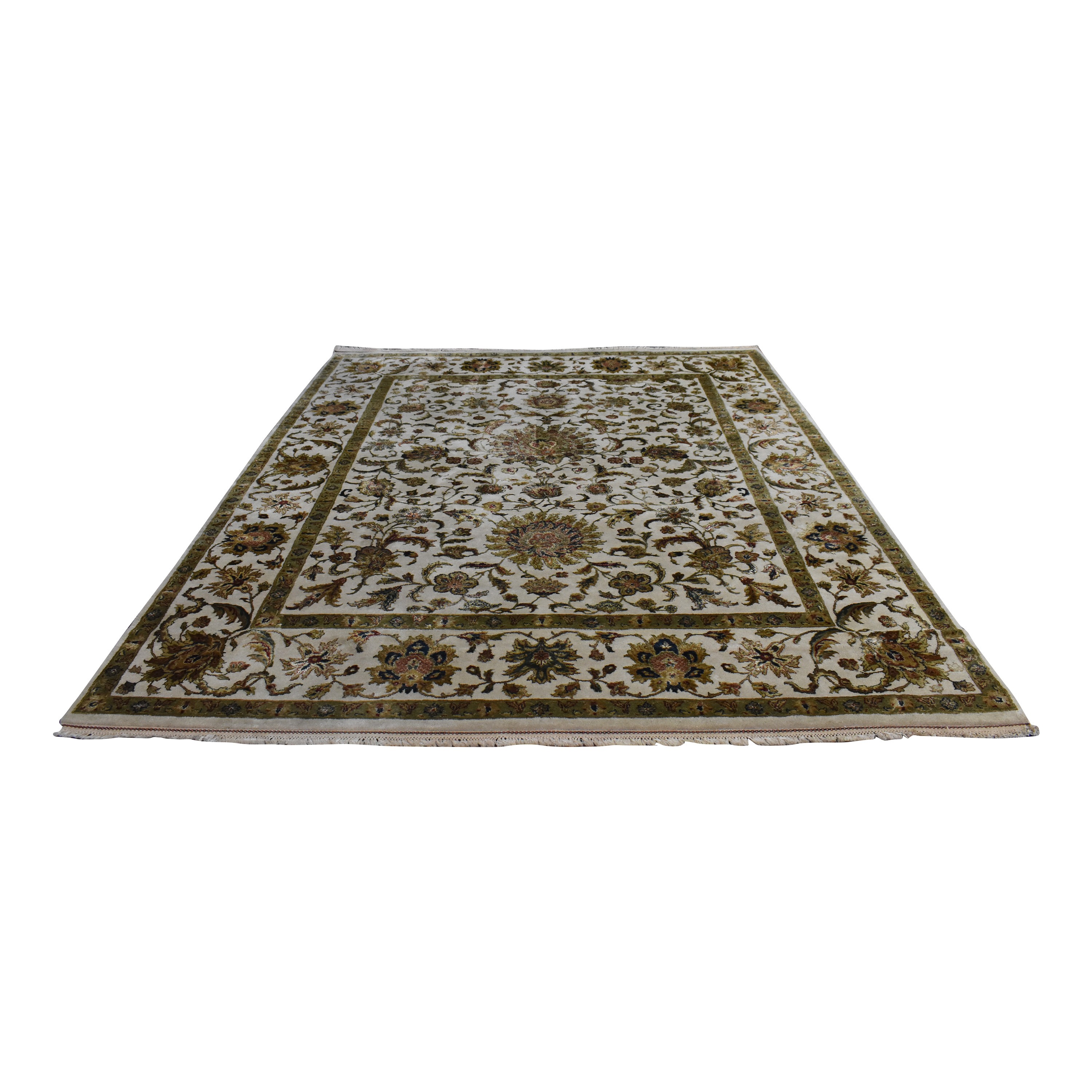 Patterned Border Style Area Rug second hand