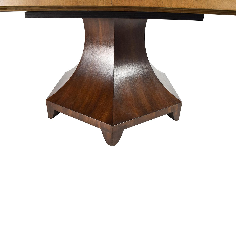 ... Henredon Henredon Celestial Oval Table Designed By Barbara Barry Brown  ...