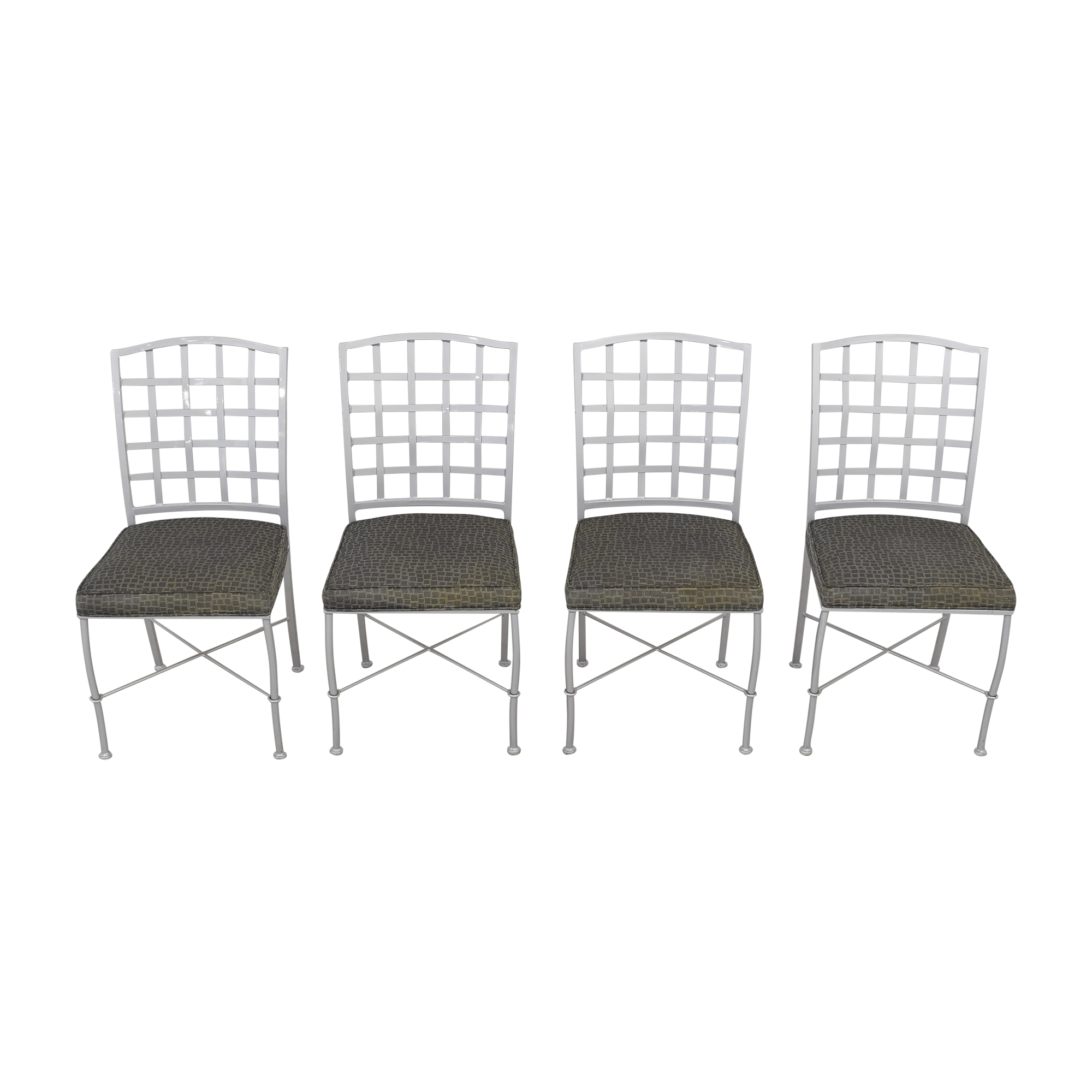 Johnston Casuals Johnston Casuals Lattice Back Dining Chairs second hand