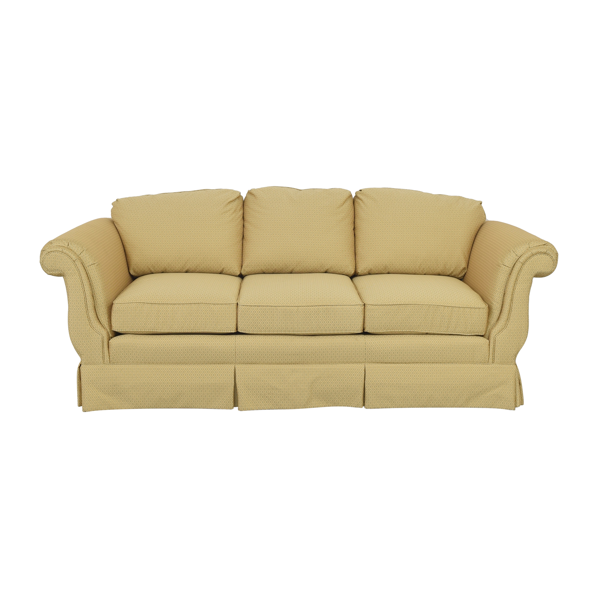 Three Cushion Roll Arm Sofa second hand