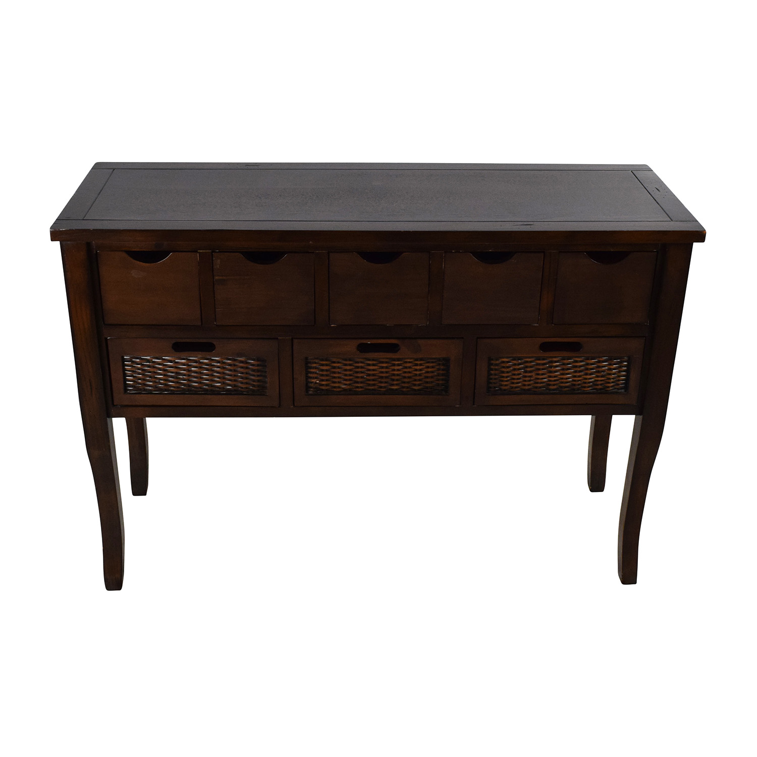 Unknown  Brown Wood Multi Drawer Sideboard Cabinets & Sideboards