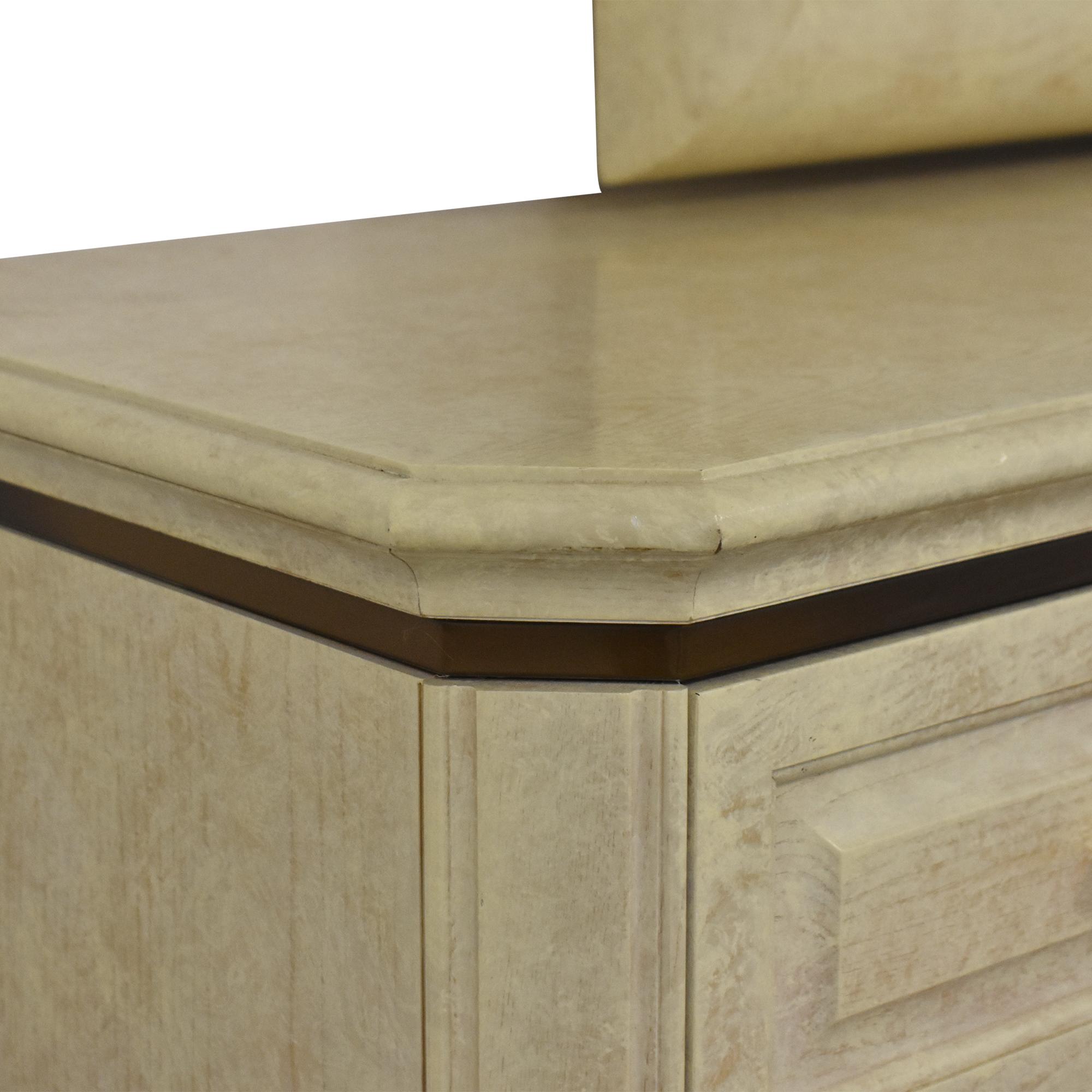 Henredon Furniture Henredon Art Deco Style Dresser and Mirror Decor