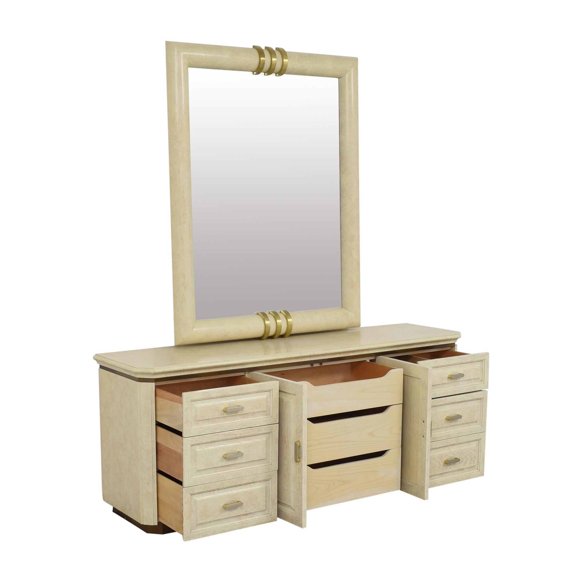 Henredon Furniture Henredon Art Deco Style Dresser and Mirror nj