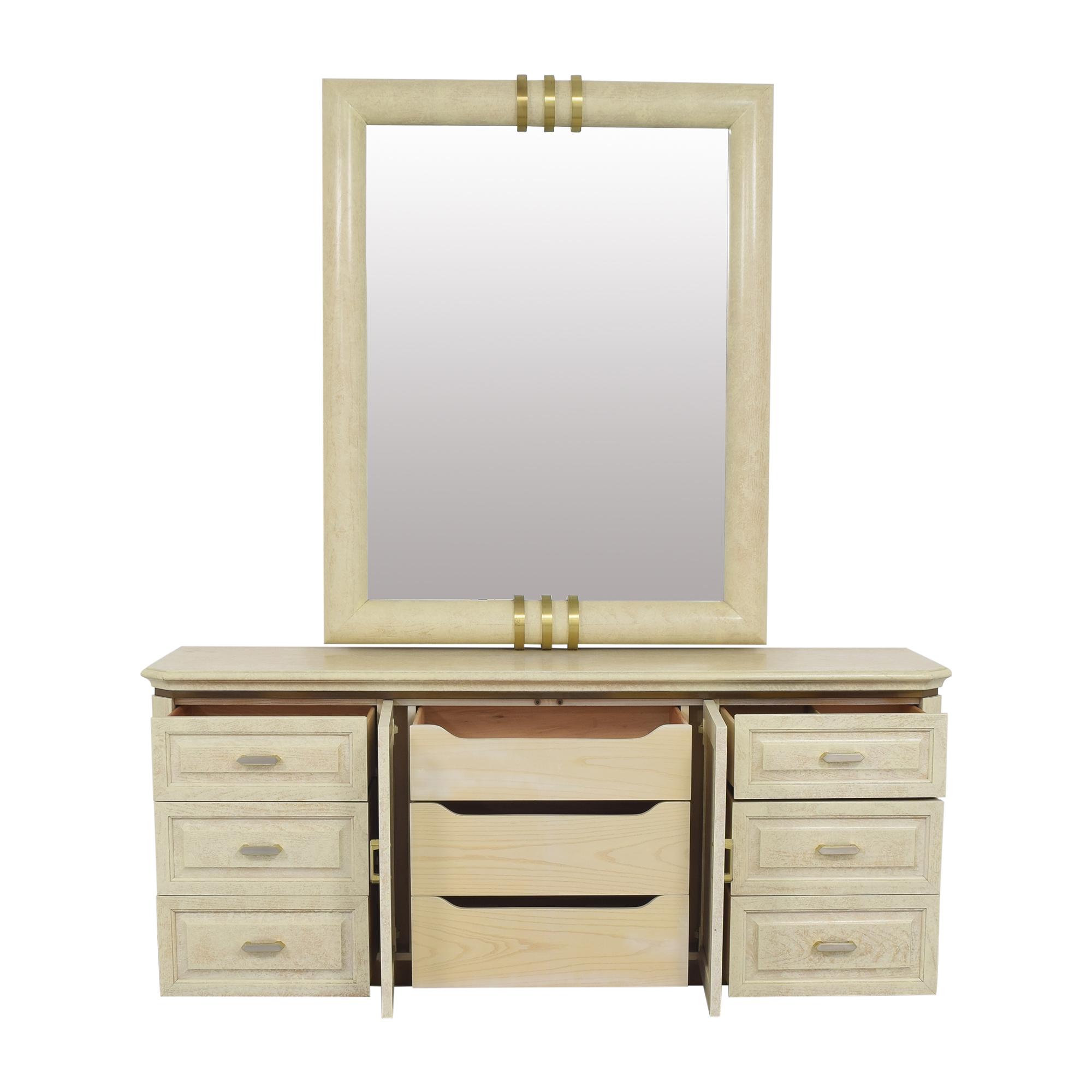 Henredon Furniture Henredon Art Deco Style Dresser and Mirror ct