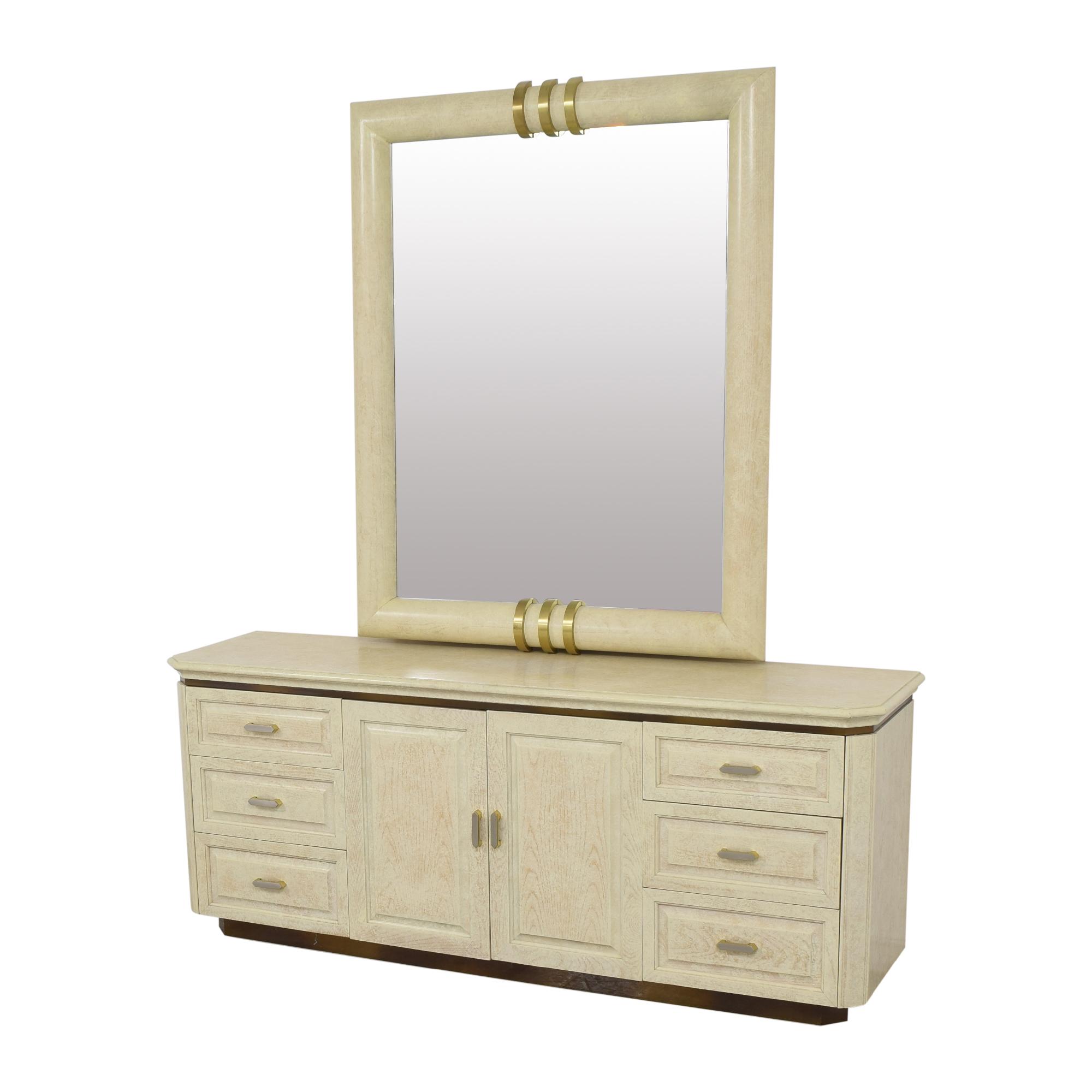 Henredon Furniture Henredon Art Deco Style Dresser and Mirror nyc