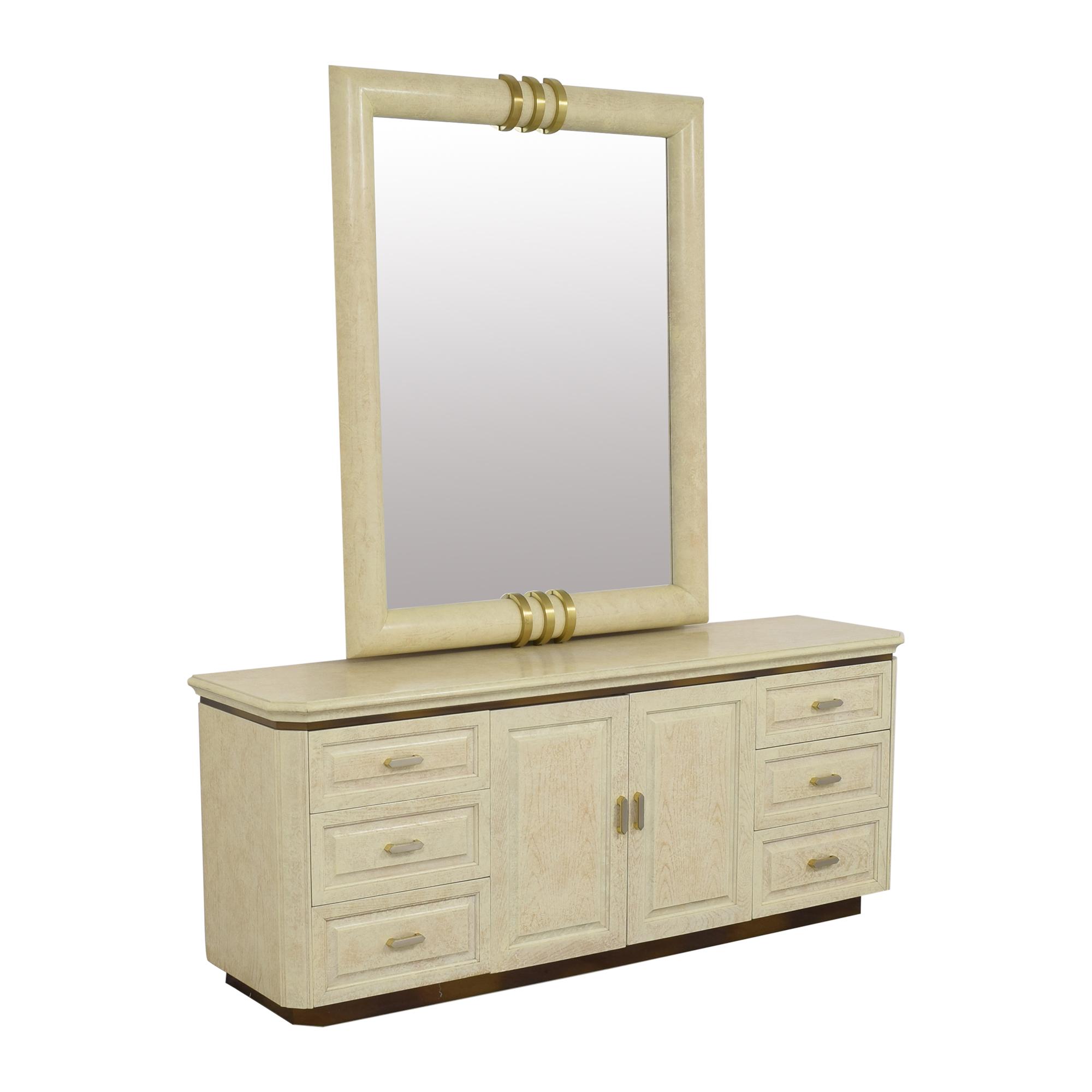 buy Henredon Art Deco Style Dresser and Mirror Henredon Furniture Decor