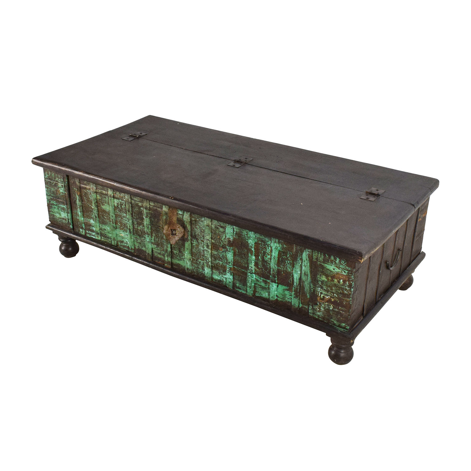 62 off nadeau nadeau distressed coffee table with storage storage Coffee table buy