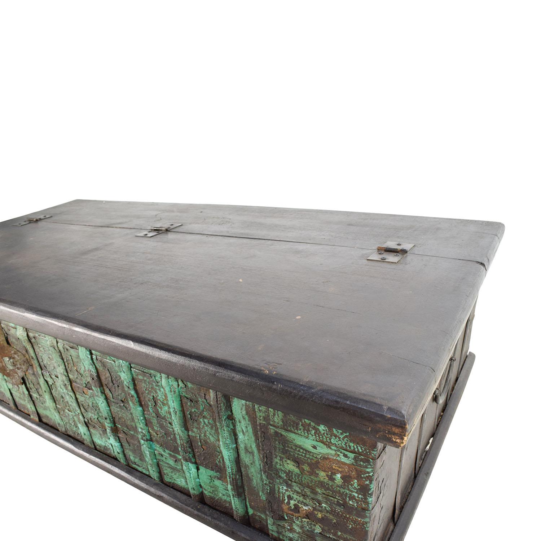 Nadeau Nadeau Distressed Coffee Table with Storage on sale