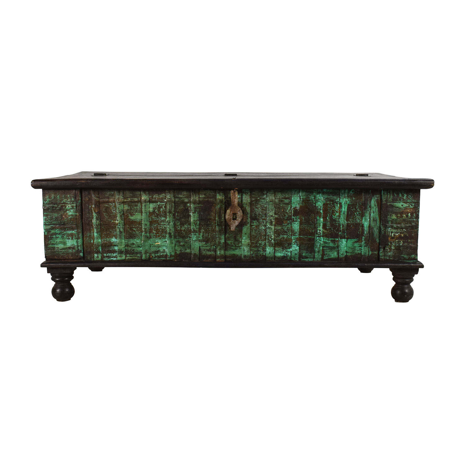 Nadeau Nadeau Distressed Coffee Table with Storage second hand