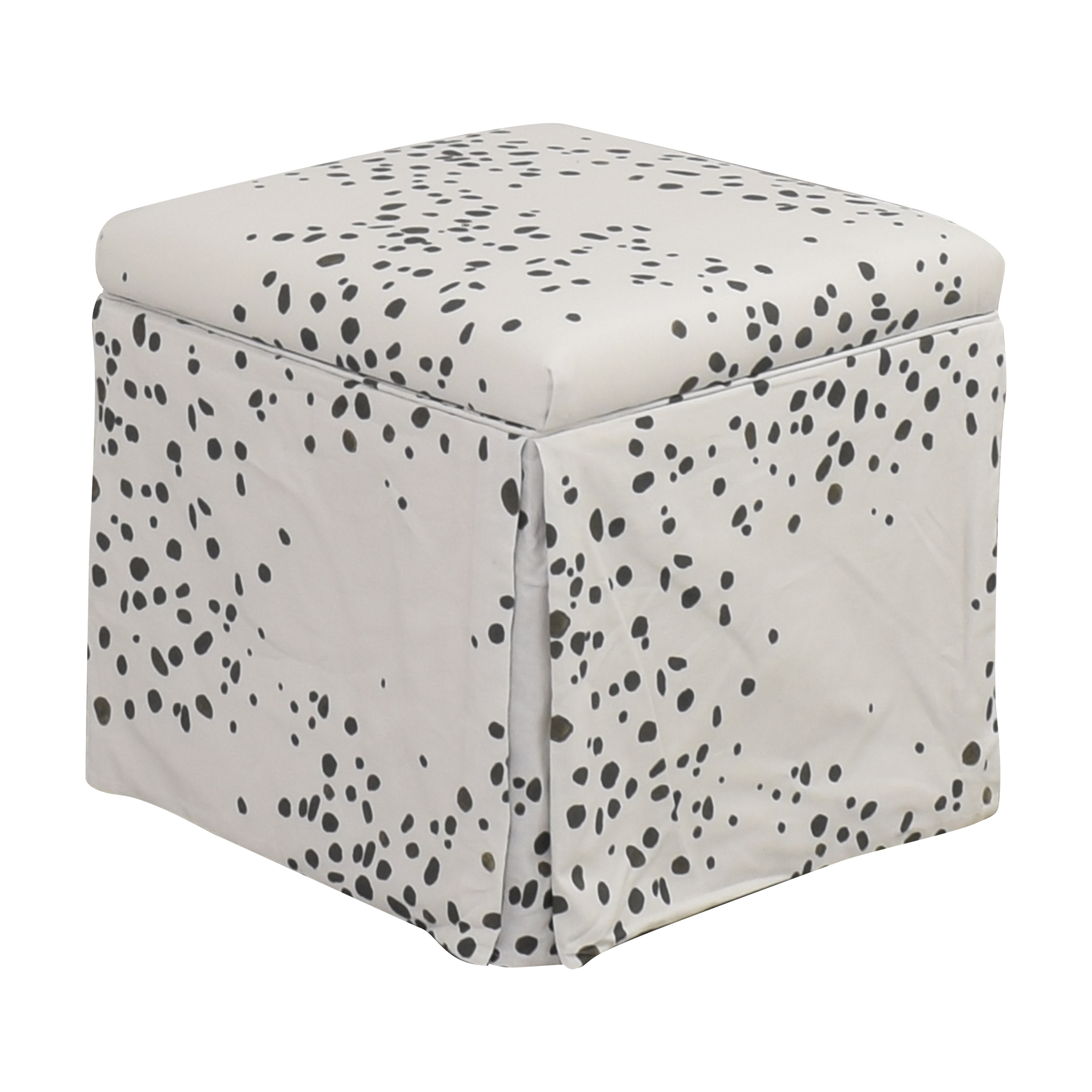 The Inside The Inside Skirted Storage Ottoman nyc