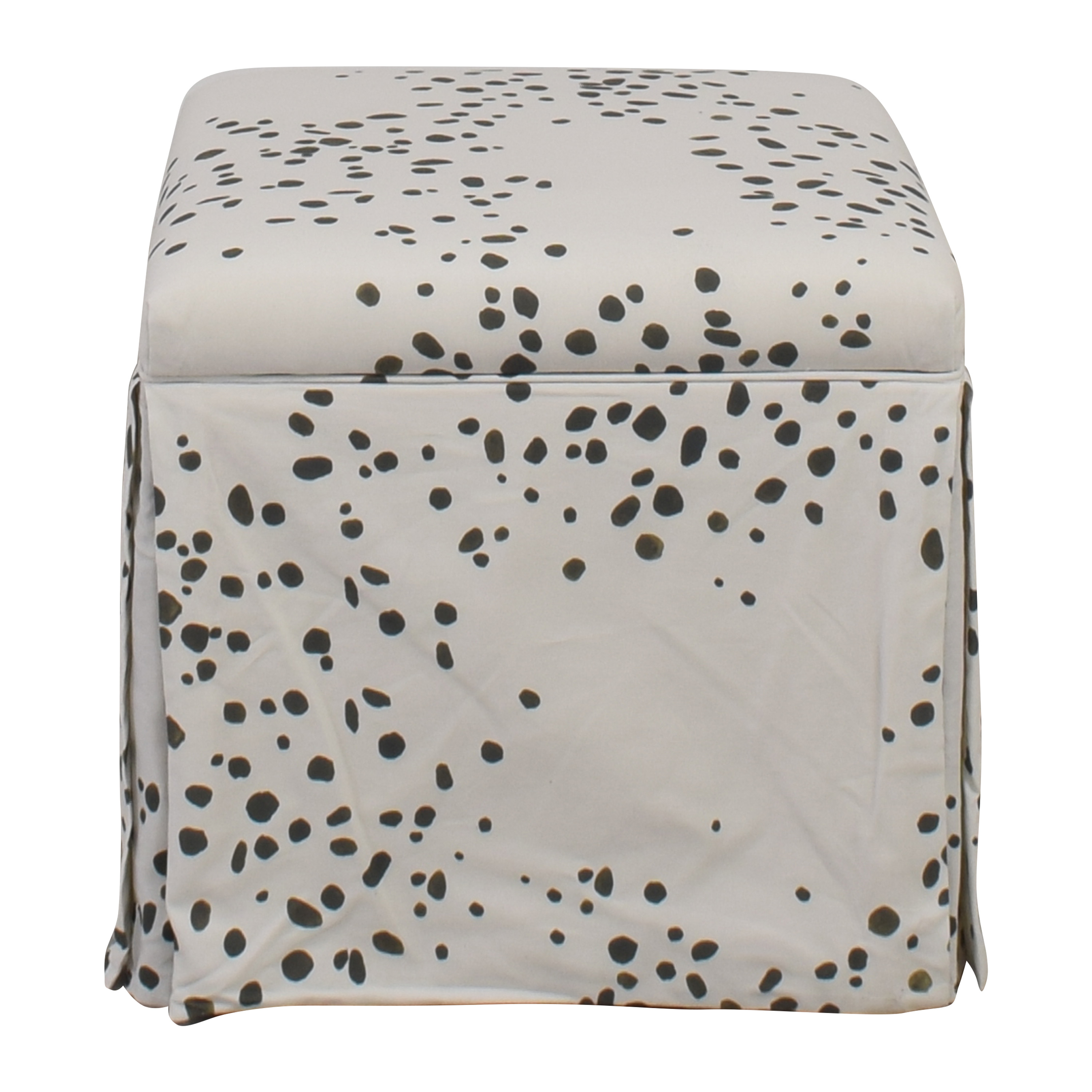 The Inside The Inside Skirted Storage Ottoman on sale
