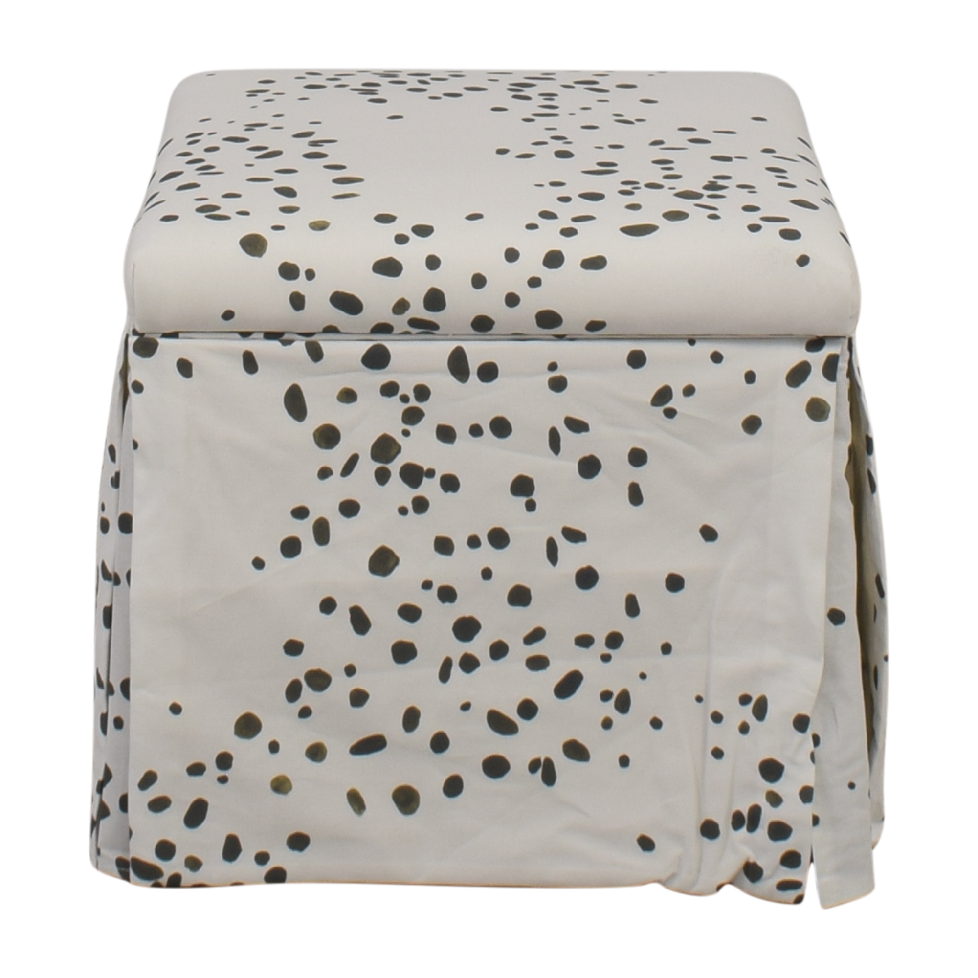 shop The Inside Skirted Storage Ottoman The Inside