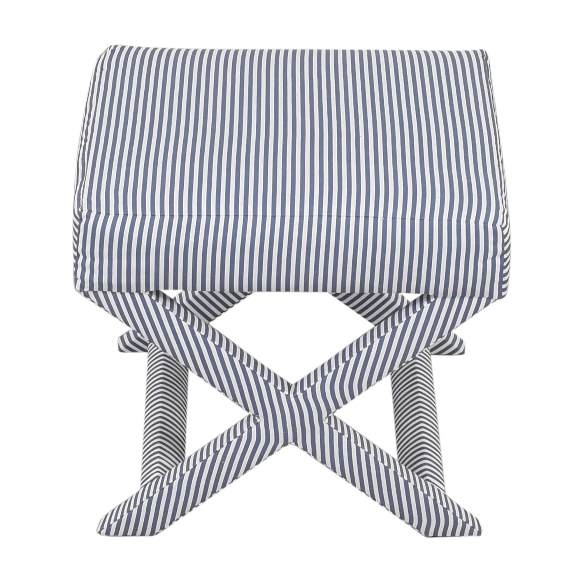 The Inside The inside Ticking Stripe X Bench Ottomans