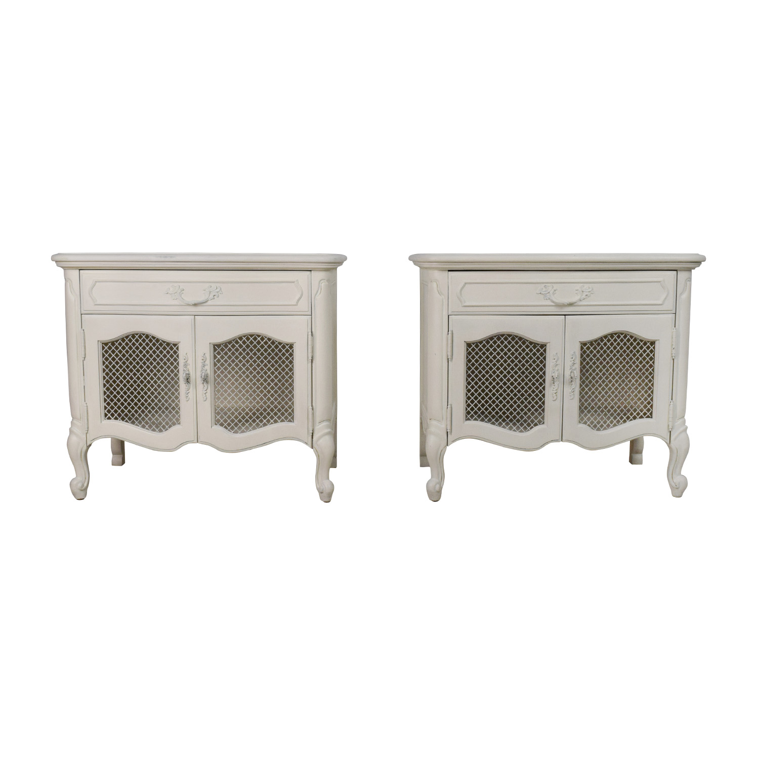 Antique Style White End Tables