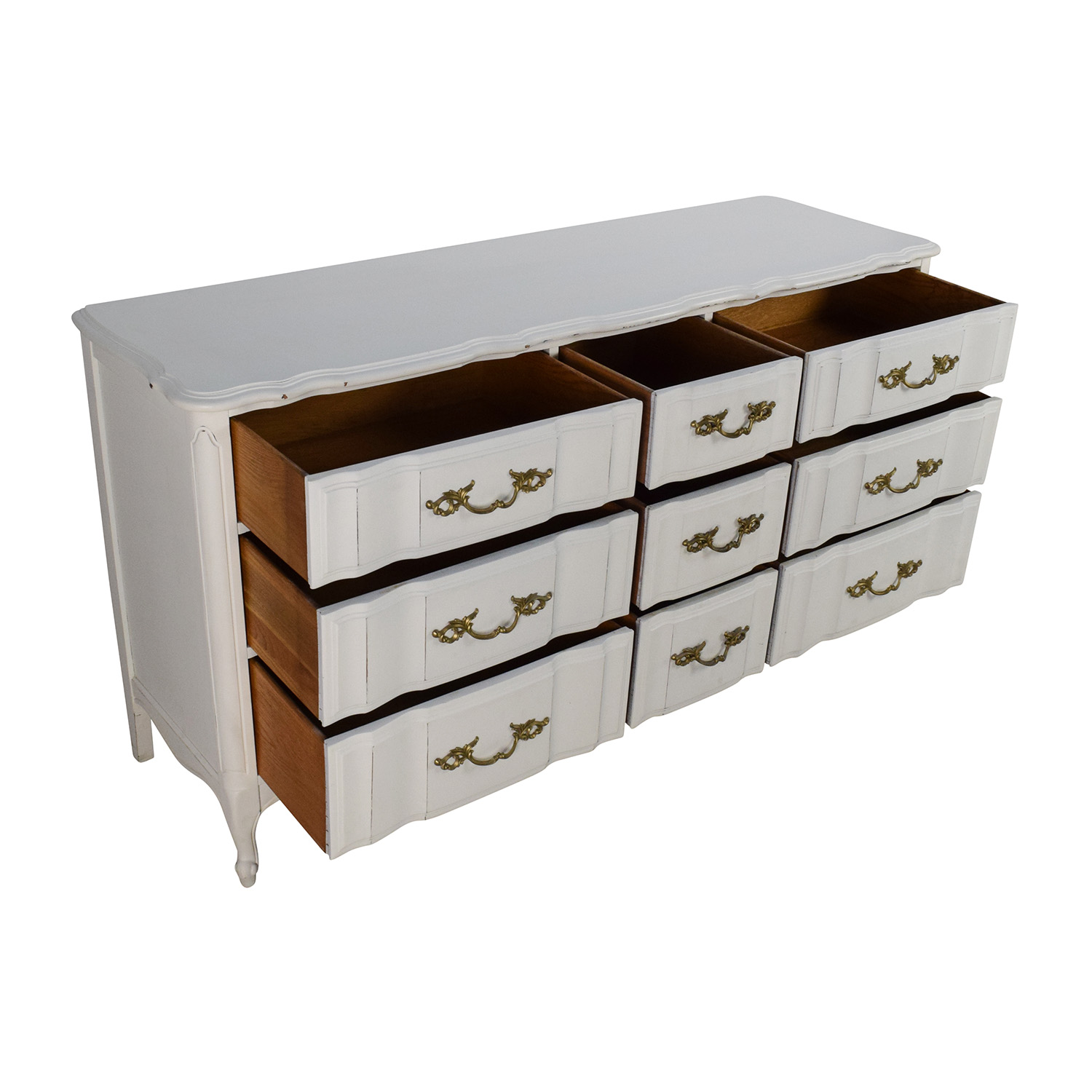 Antique Style White Dresser nj