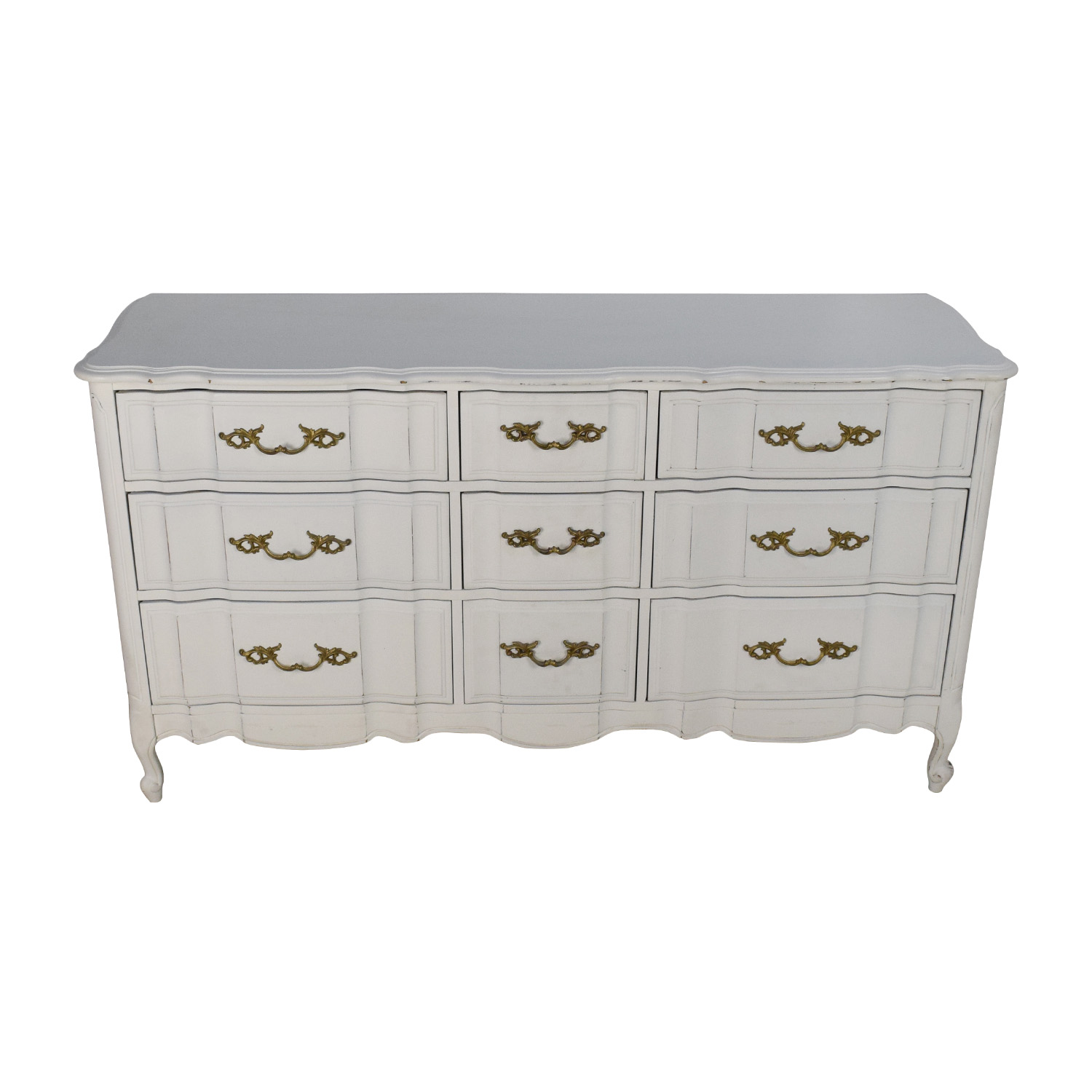 Antique Style White Dresser coupon